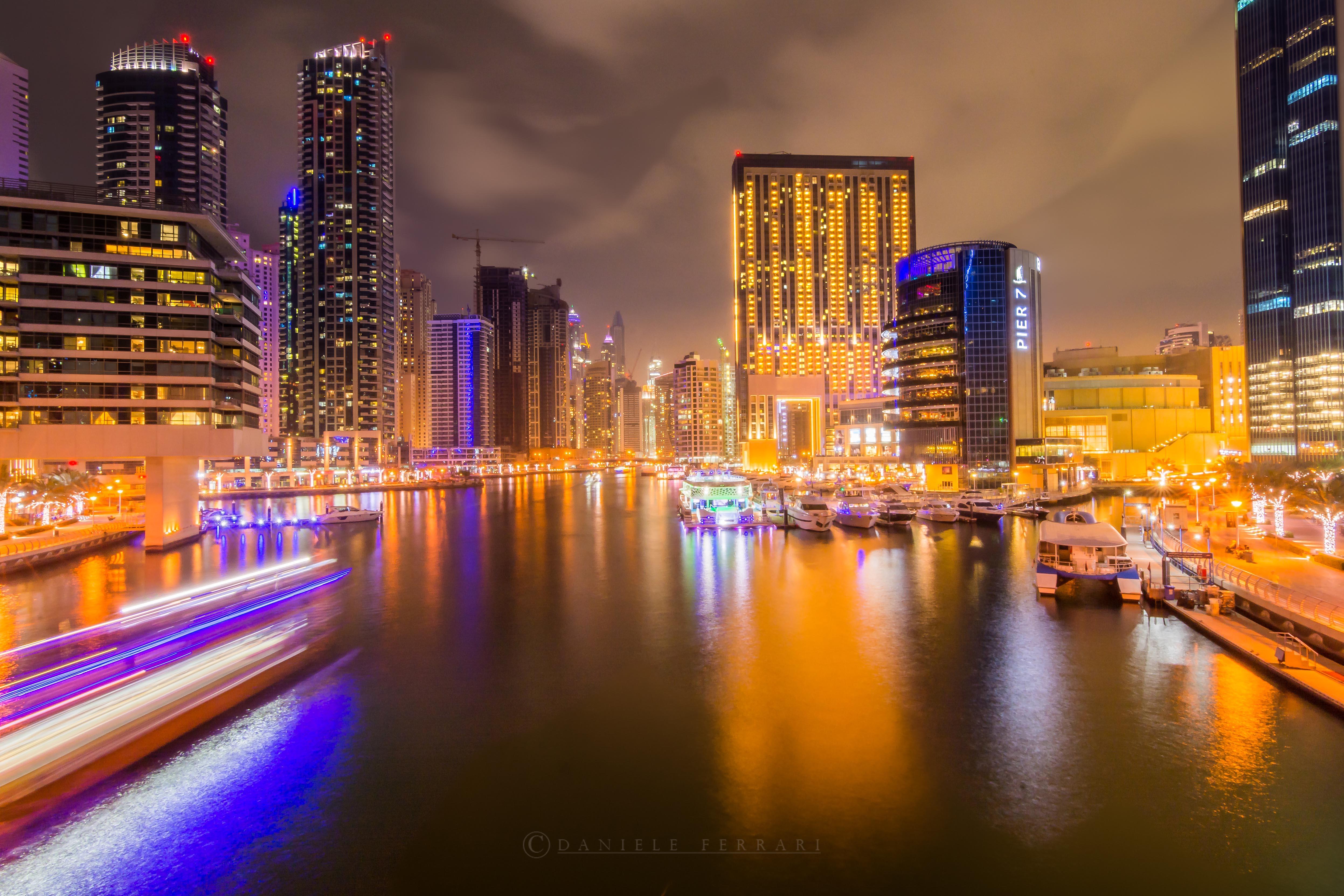 Fondos De Pantalla : Dubaimarina, Agua, Dubai, Uae, Noche