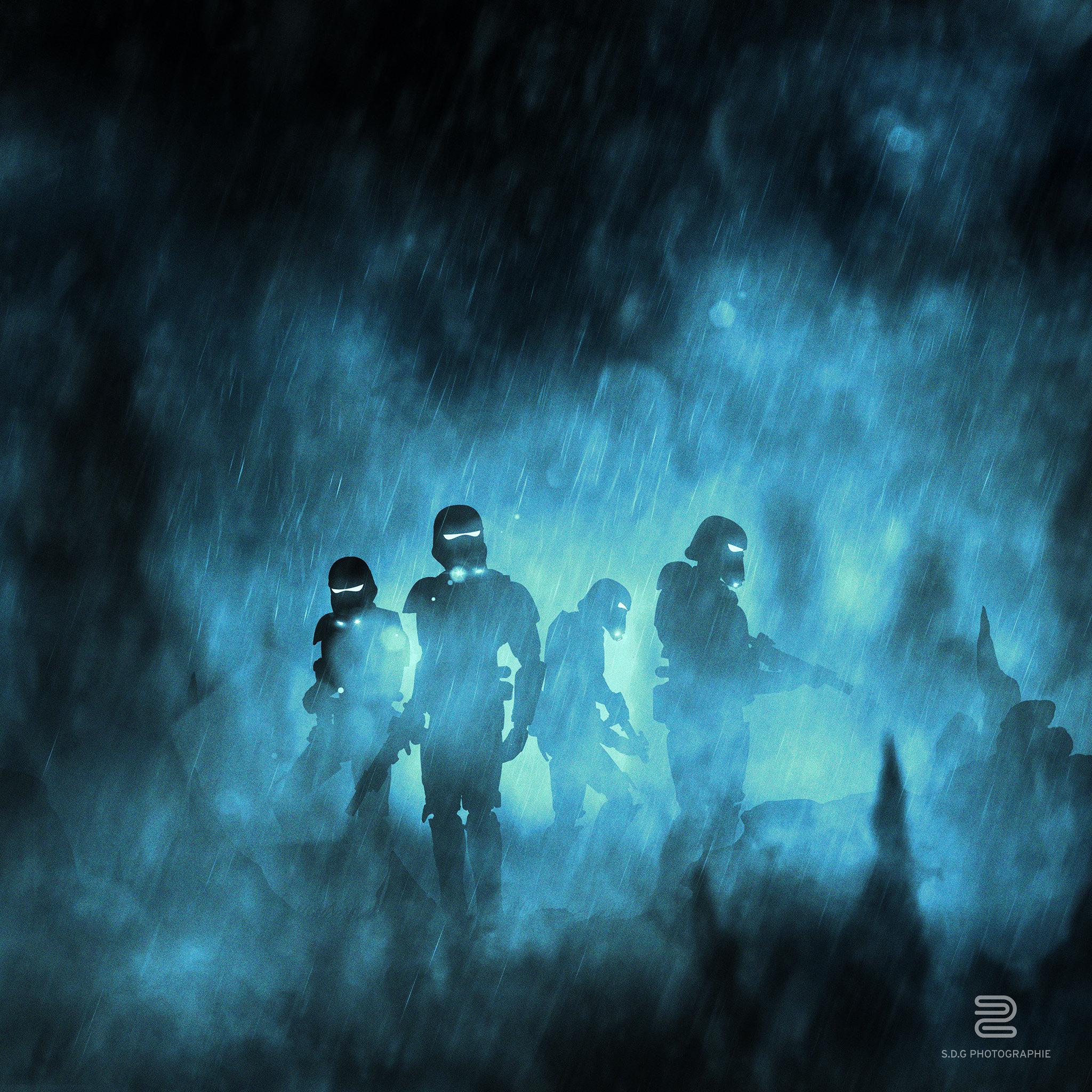 eadu Storm Troopers Star Wars galaxy silhouette 1691439