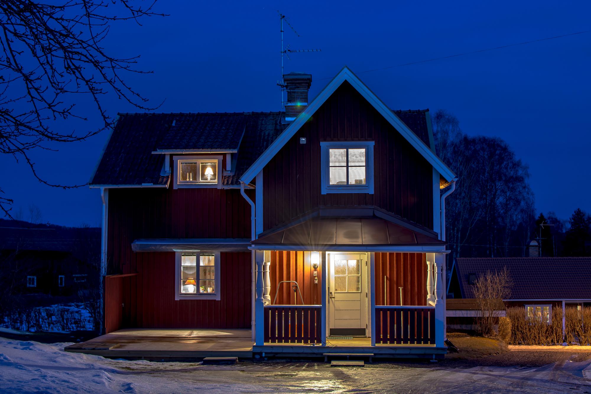 картинки домов в городе ночью