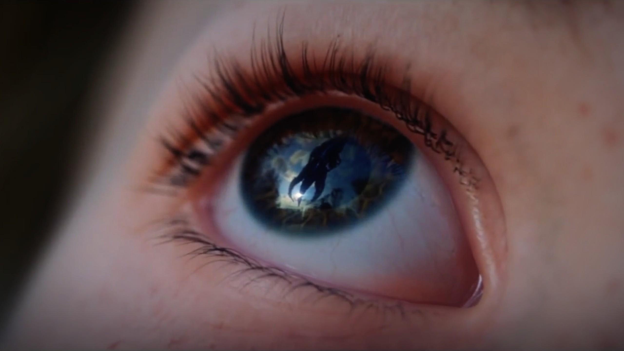 Wallpaper Face Mass Effect Blue Screen Shot Mouth Nose