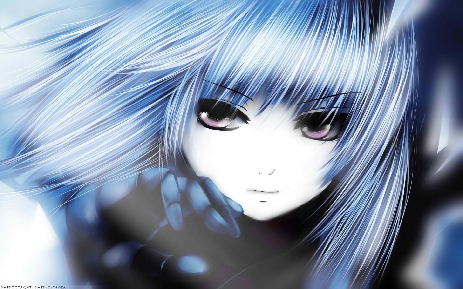 Face Anime Anime Girls Blue Hair Gloves Manga Blue King Of Fighters Kula Diamond Coffee Kizoku