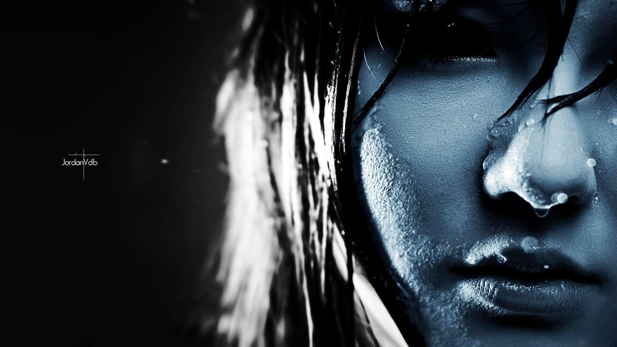 Wallpaper Face Horror Blue Emotion Light Eye