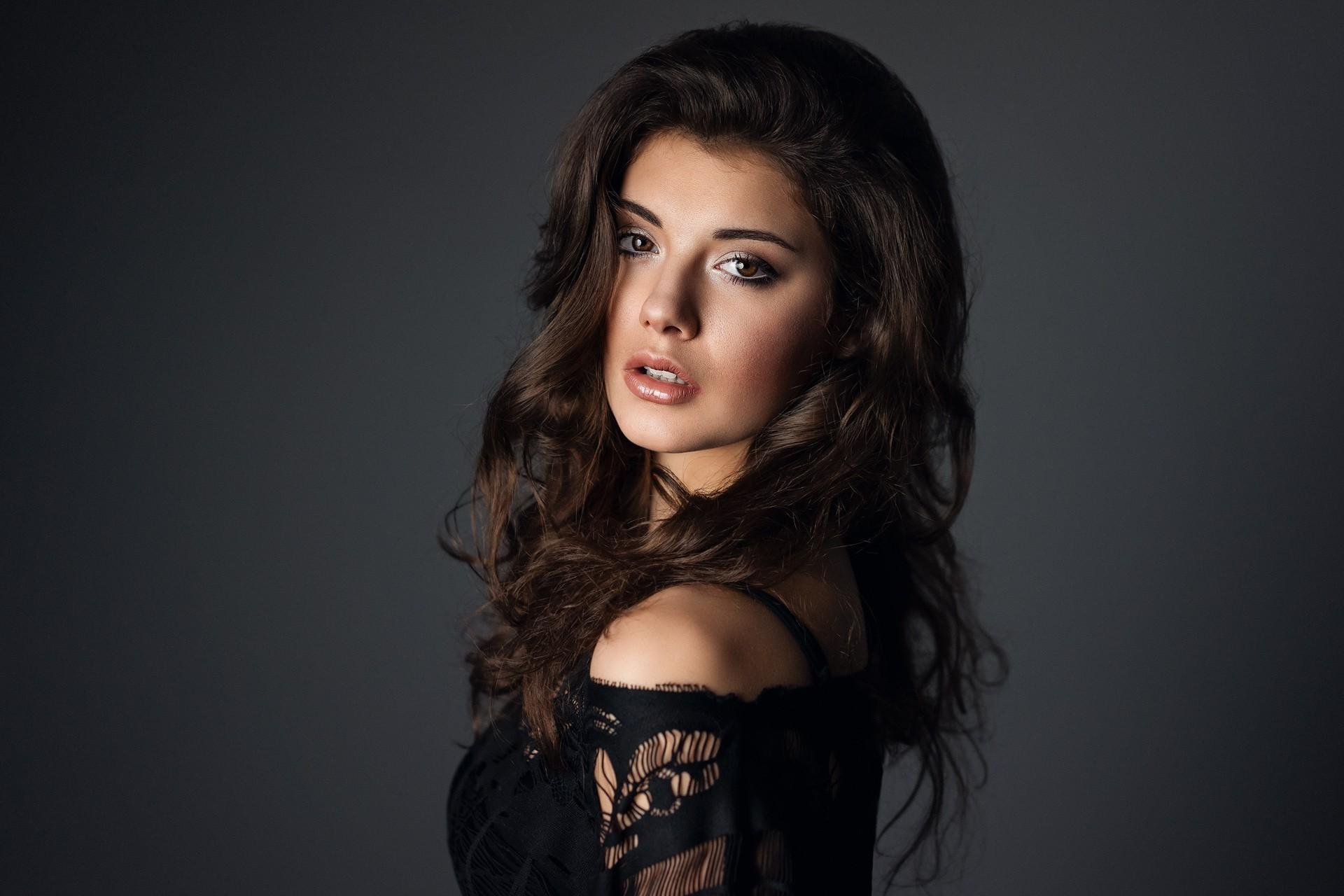 Hintergrundbilder Gesicht Schwarz Frau Modell Porträt Lange