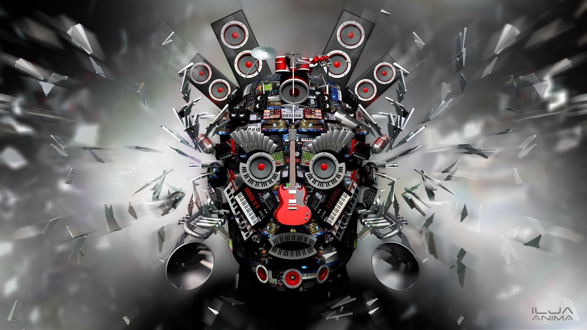 Wallpaper Face Digital Art Eyes Anime Car 3D Open