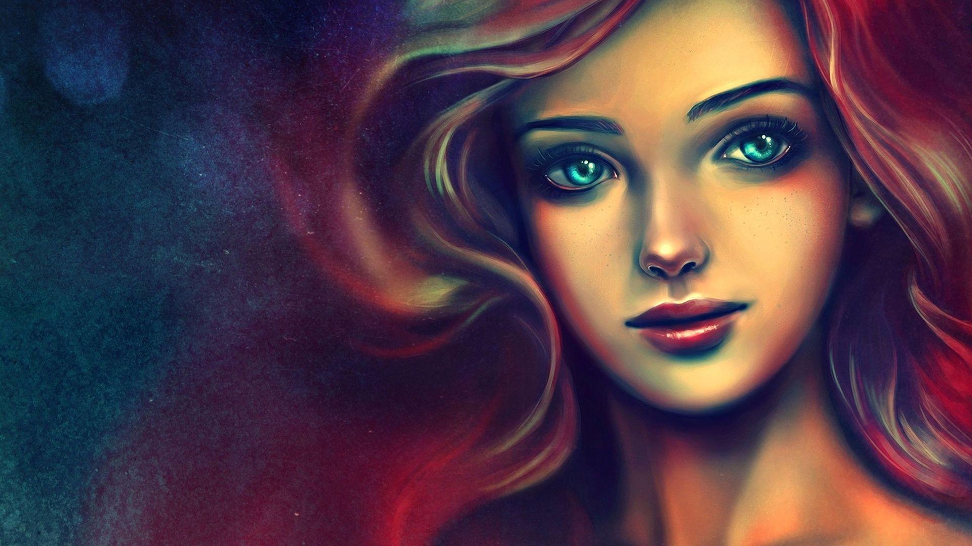 Fond d 39 cran visage dessin color illustration - Dessin colore ...