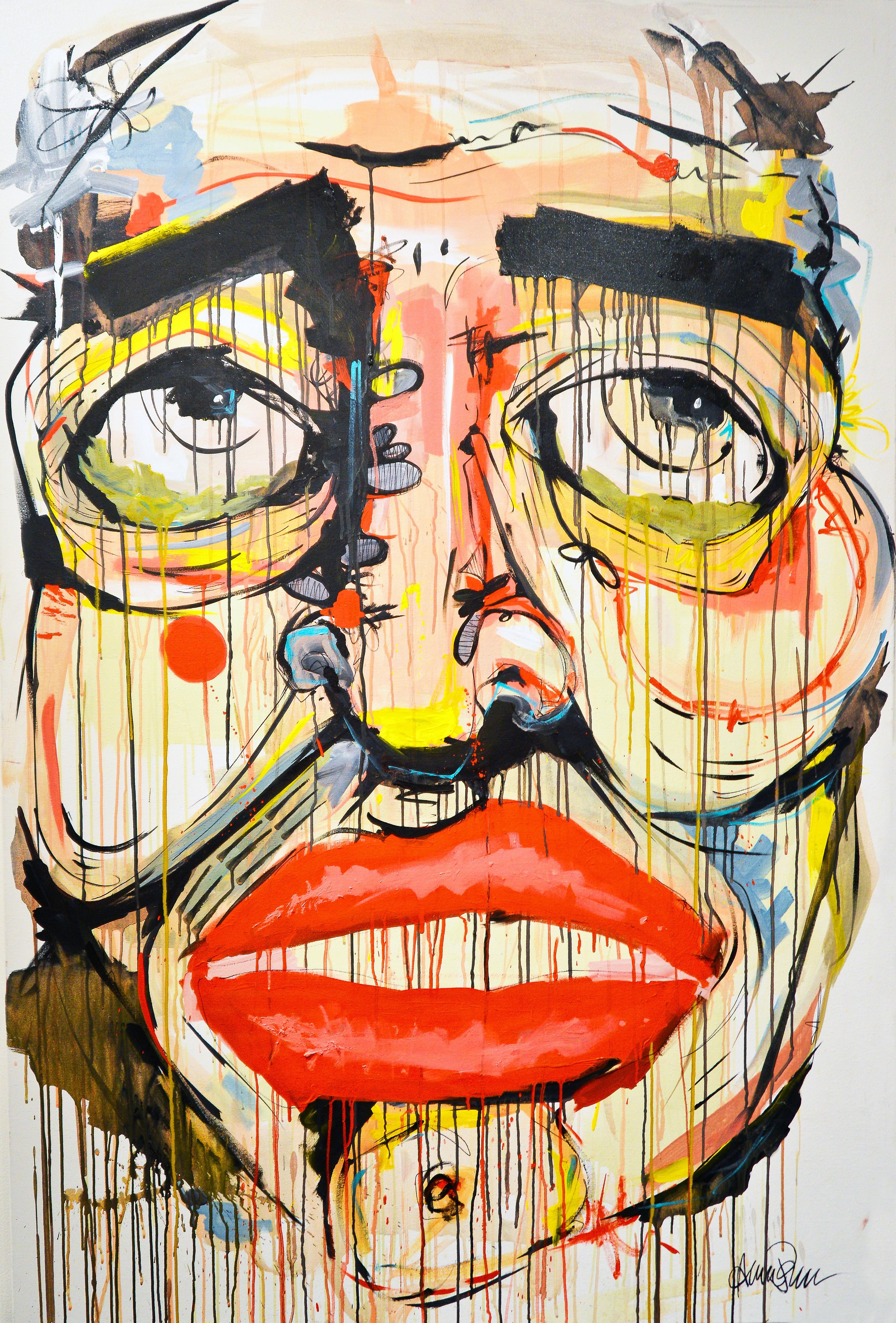 Masaüstü Yüz çizim Renkli Boyama Illüstrasyon Portre Gözler