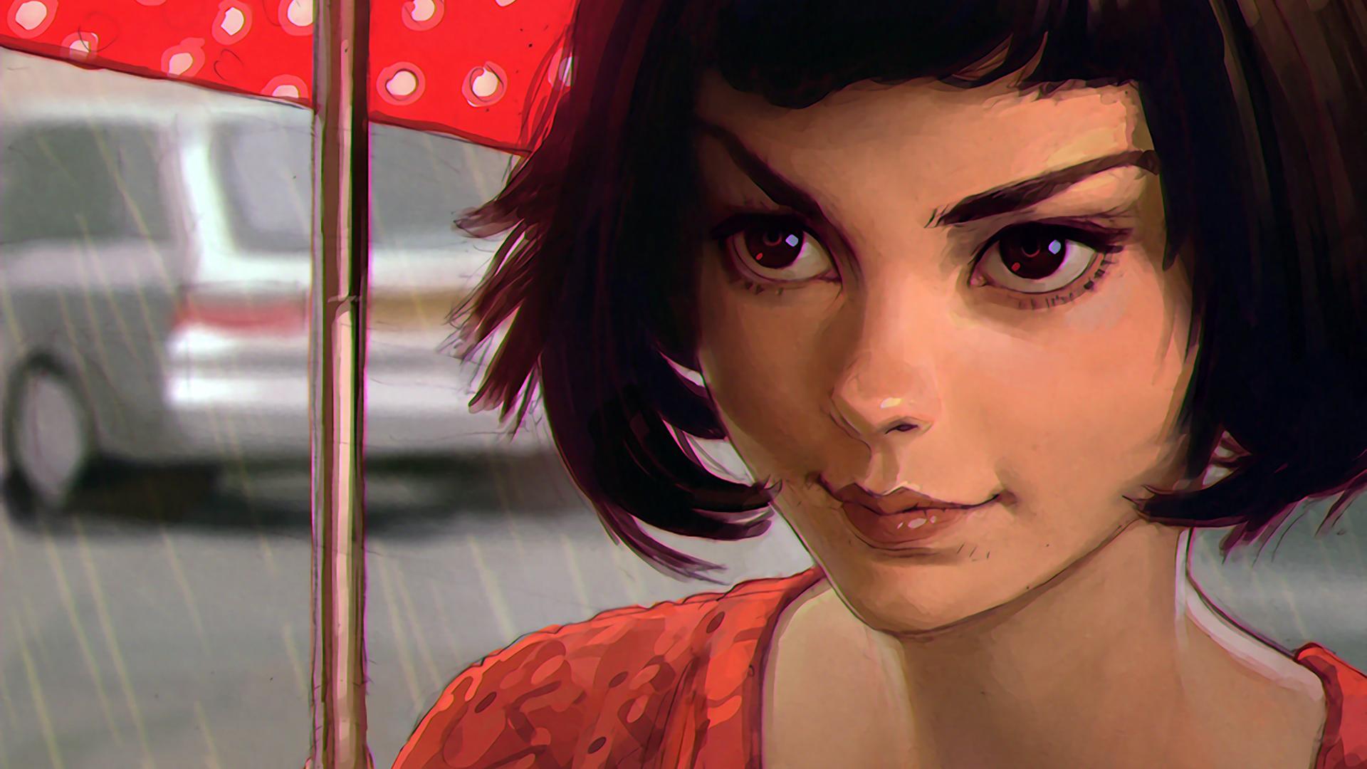 Wallpaper Face Drawing Digital Art Women Model Portrait