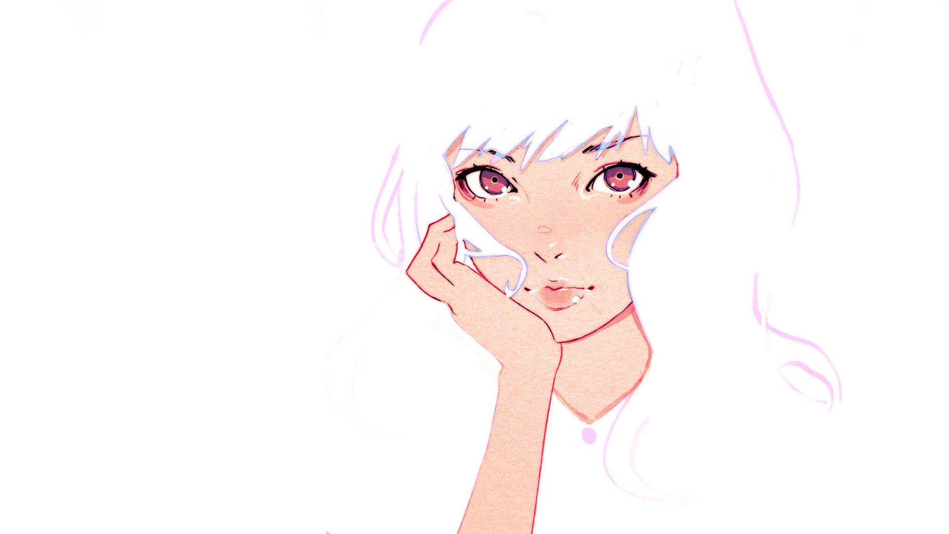 Wallpaper : Face, Drawing, Illustration, Anime, Artwork