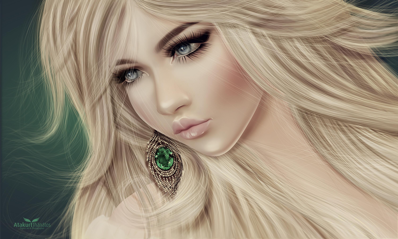 Wallpaper : face, drawing, illustration, model, long hair, black