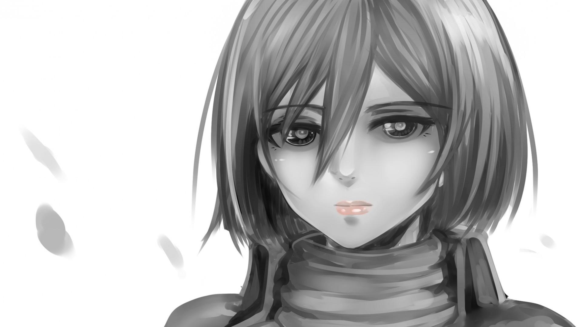 Sfondi viso disegno illustrazione monocromo anime