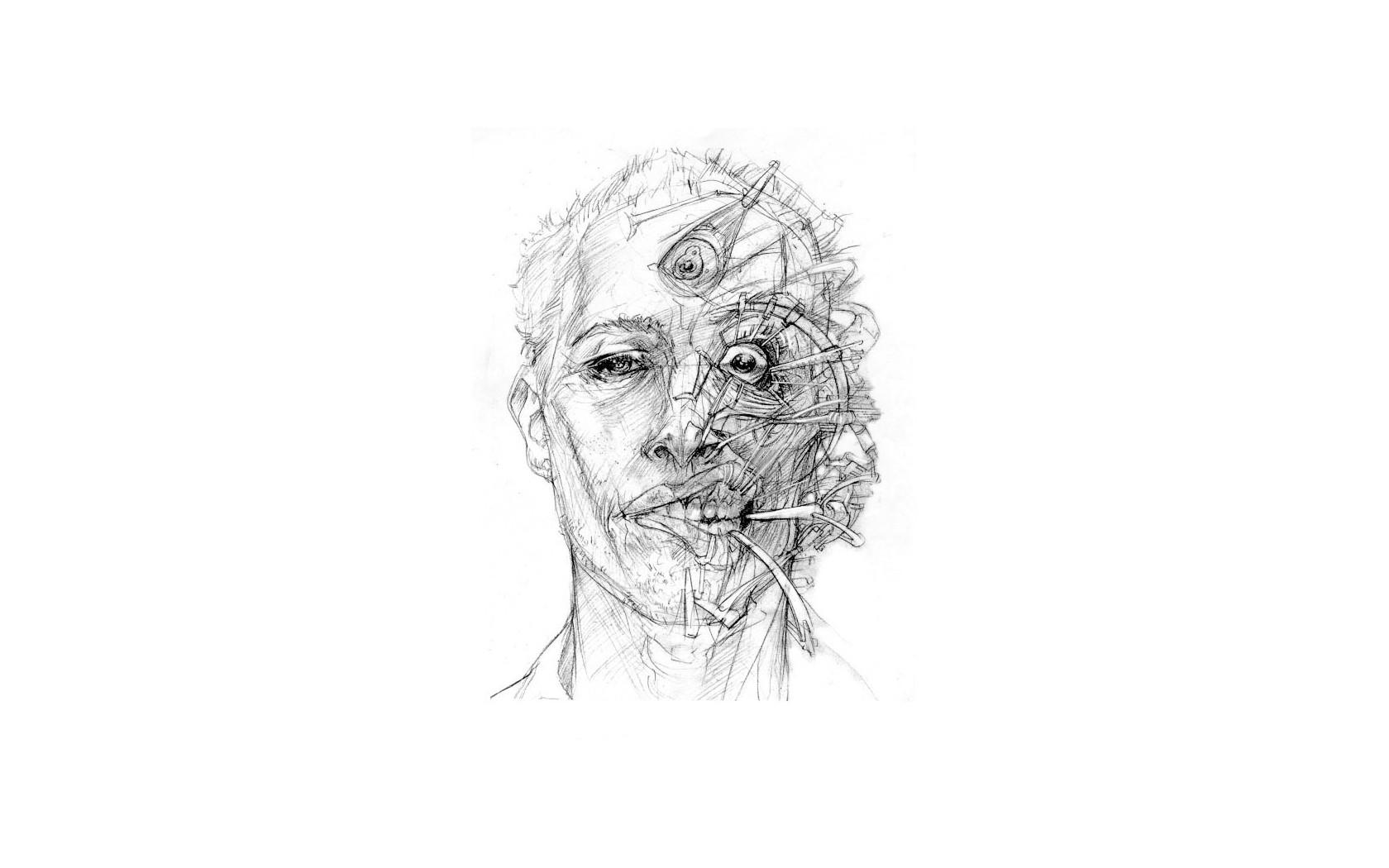 Wallpaper : face, illustration, artwork, Traditional Artwork, head ...