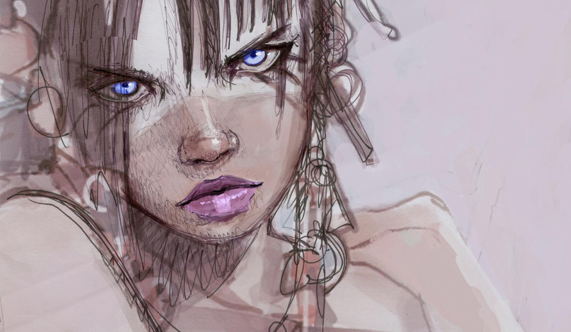 Wallpaper : Face, Portrait, Mouth, Head, Sketch Up, ART