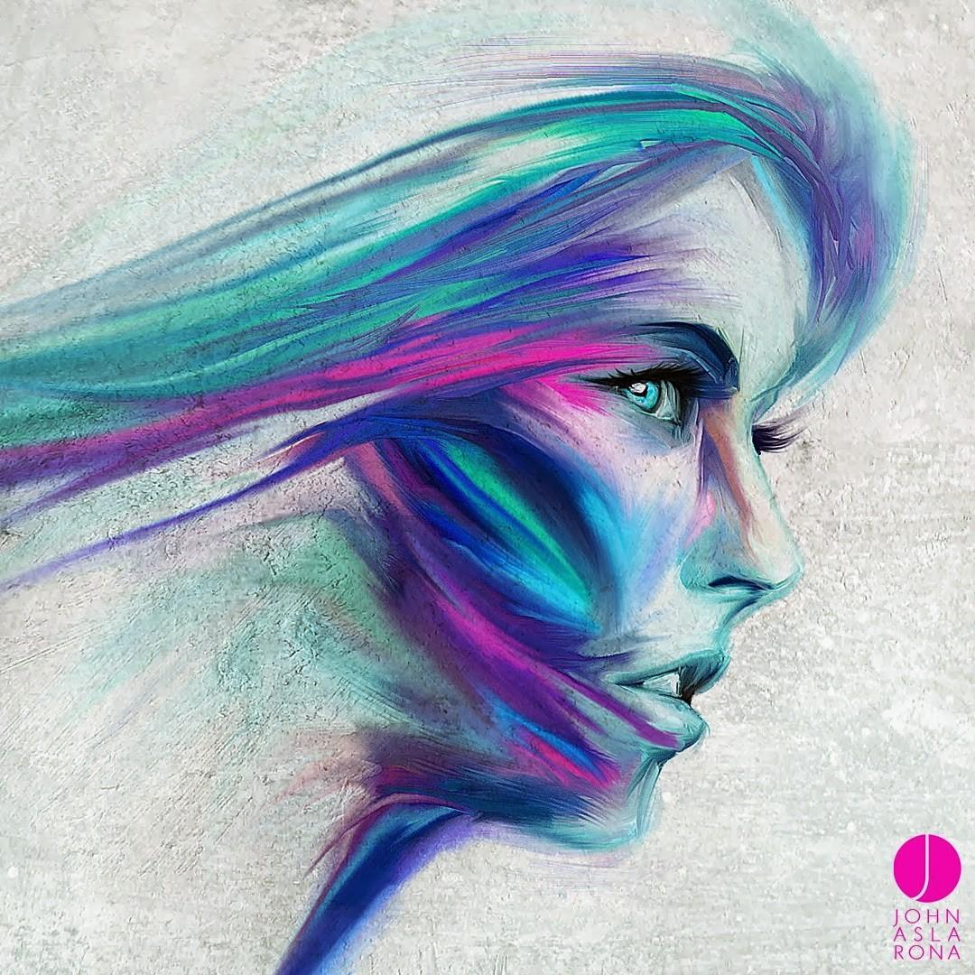 Blue Face Paint Png