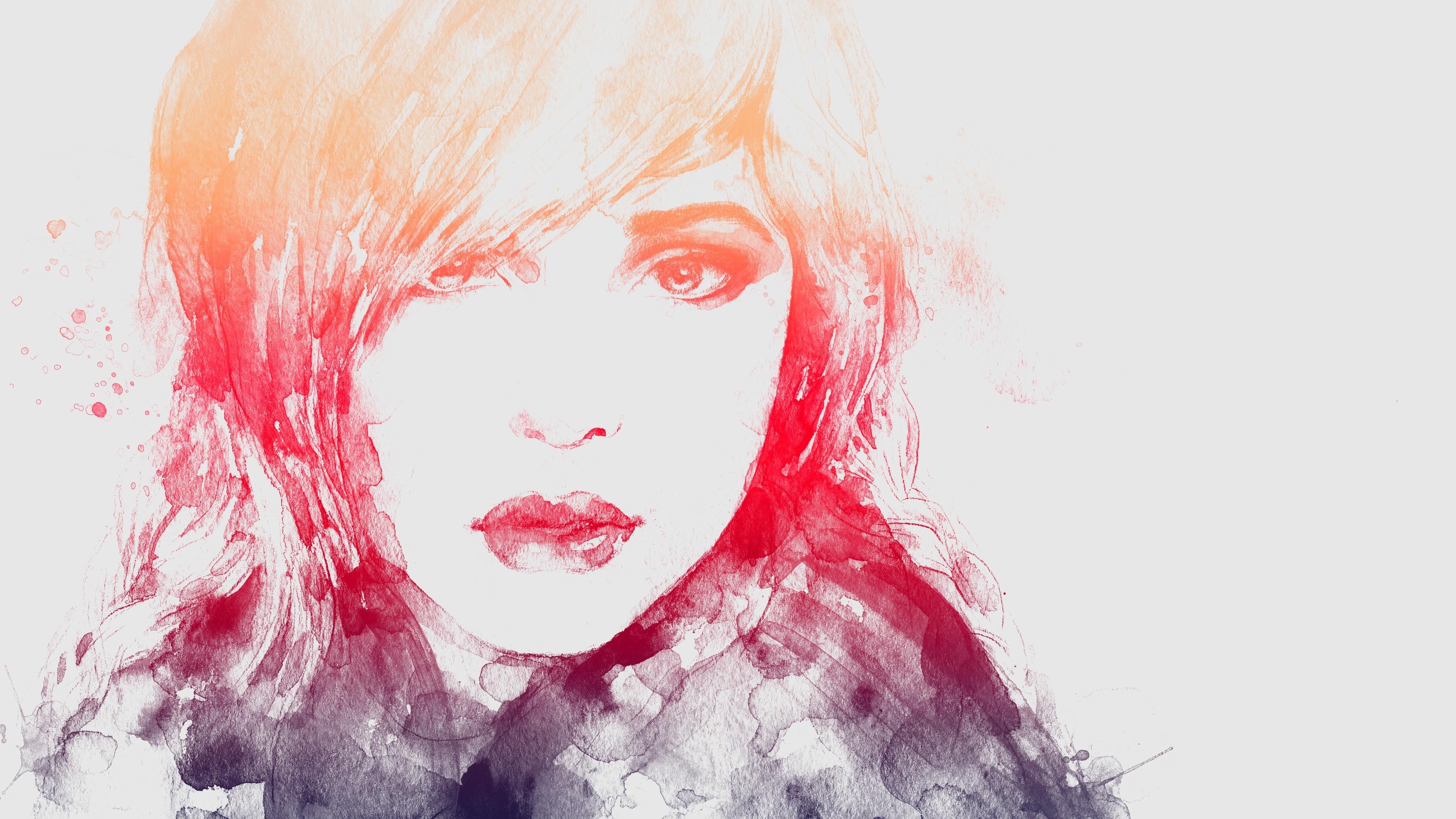 Masaüstü Yüz çizim Boyama Illüstrasyon Portre Kırmızı Ağız