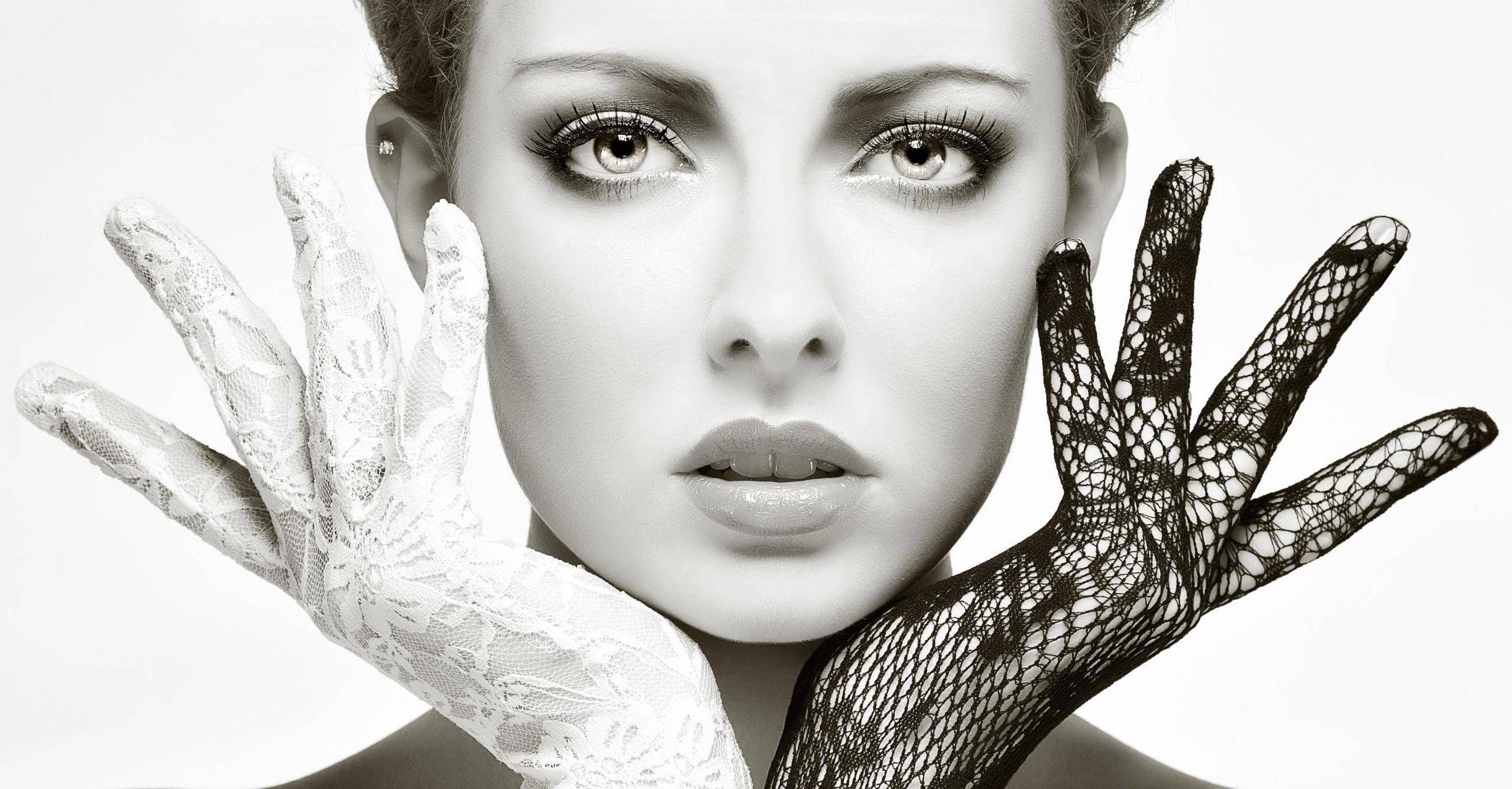 Wallpaper Face Women Model Black Background Looking: Wallpaper : Face, Drawing, Women, Model, Looking At Viewer