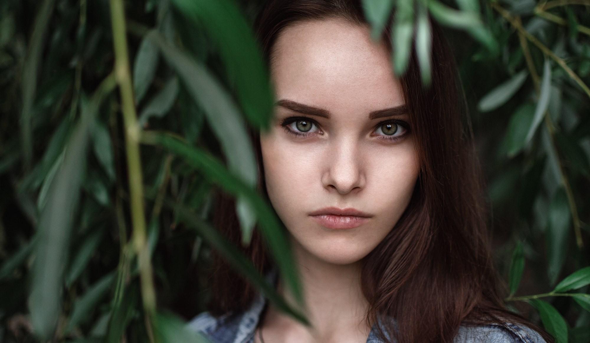 Wallpaper Face Forest Women Depth Of Field Eyes