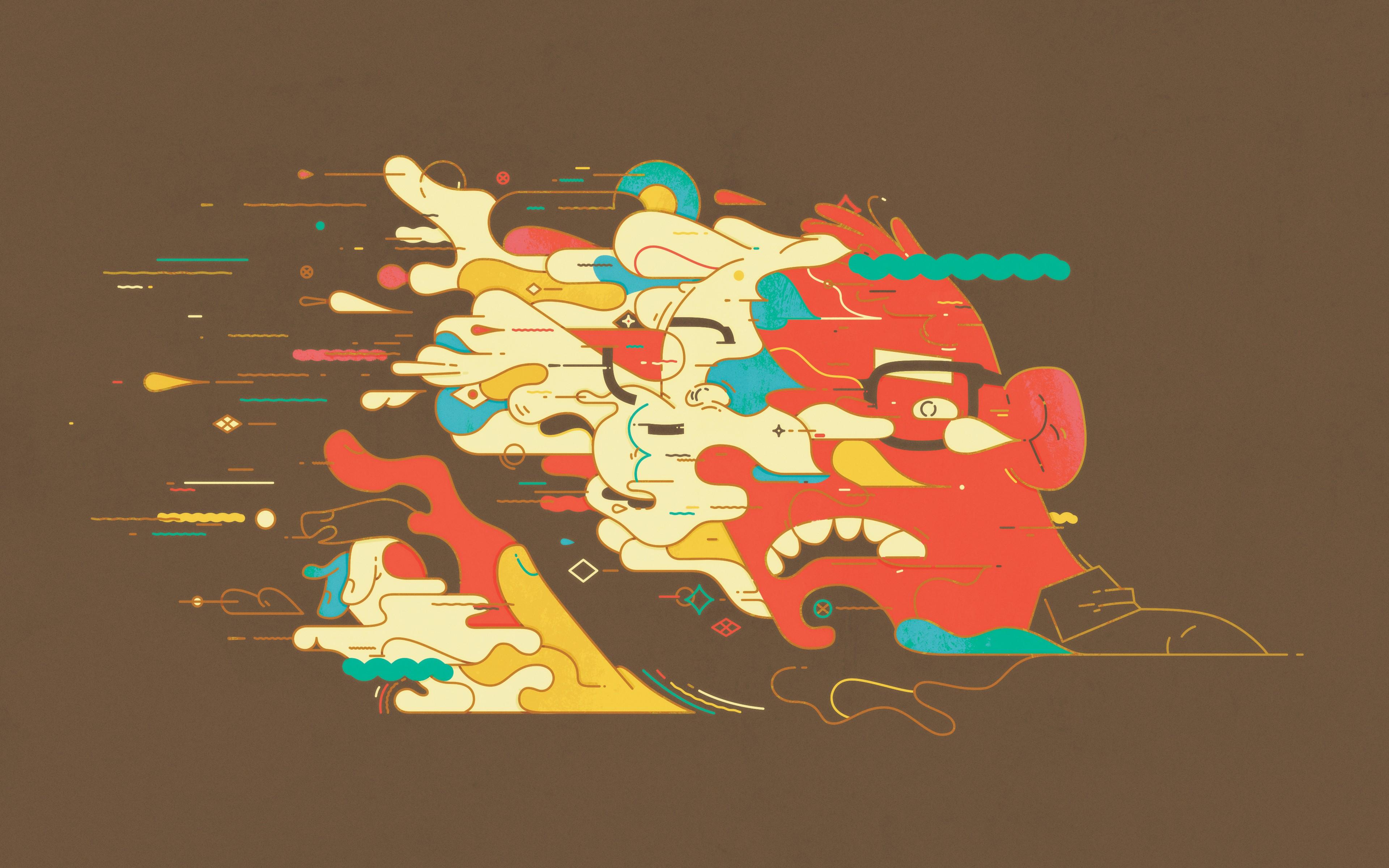 Fondos de pantalla cara ilustraci n abstracto dibujos - Graphic design desktop wallpaper hd ...