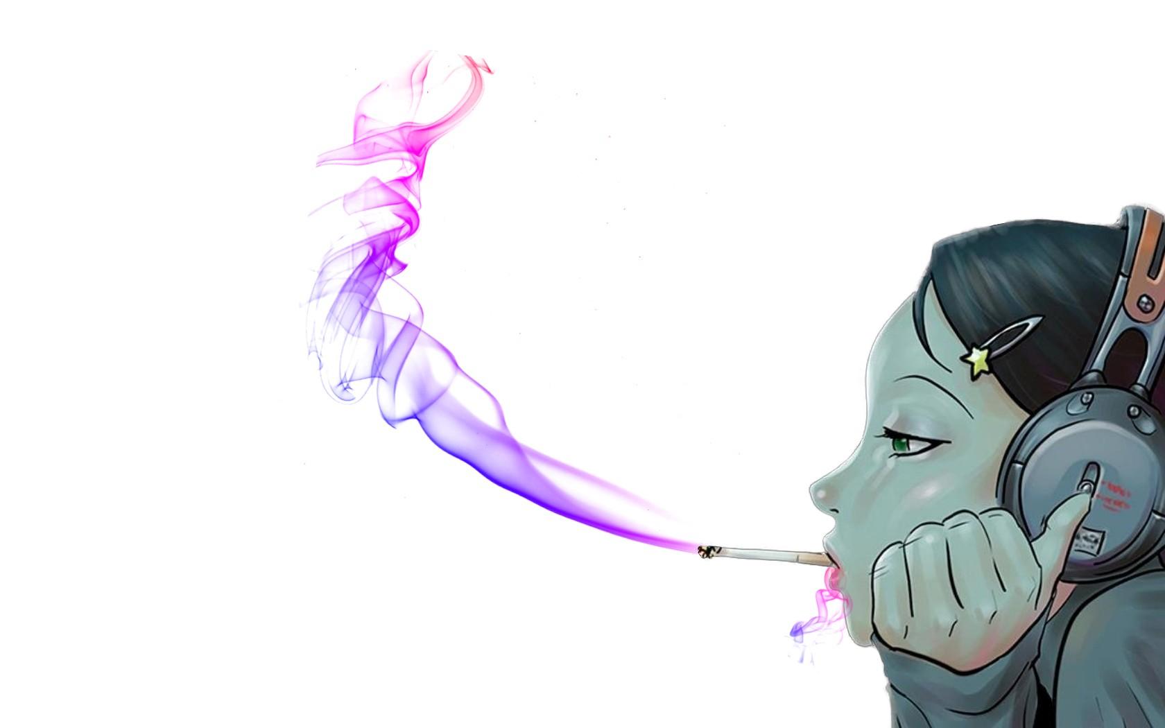 Картинки аниме дым
