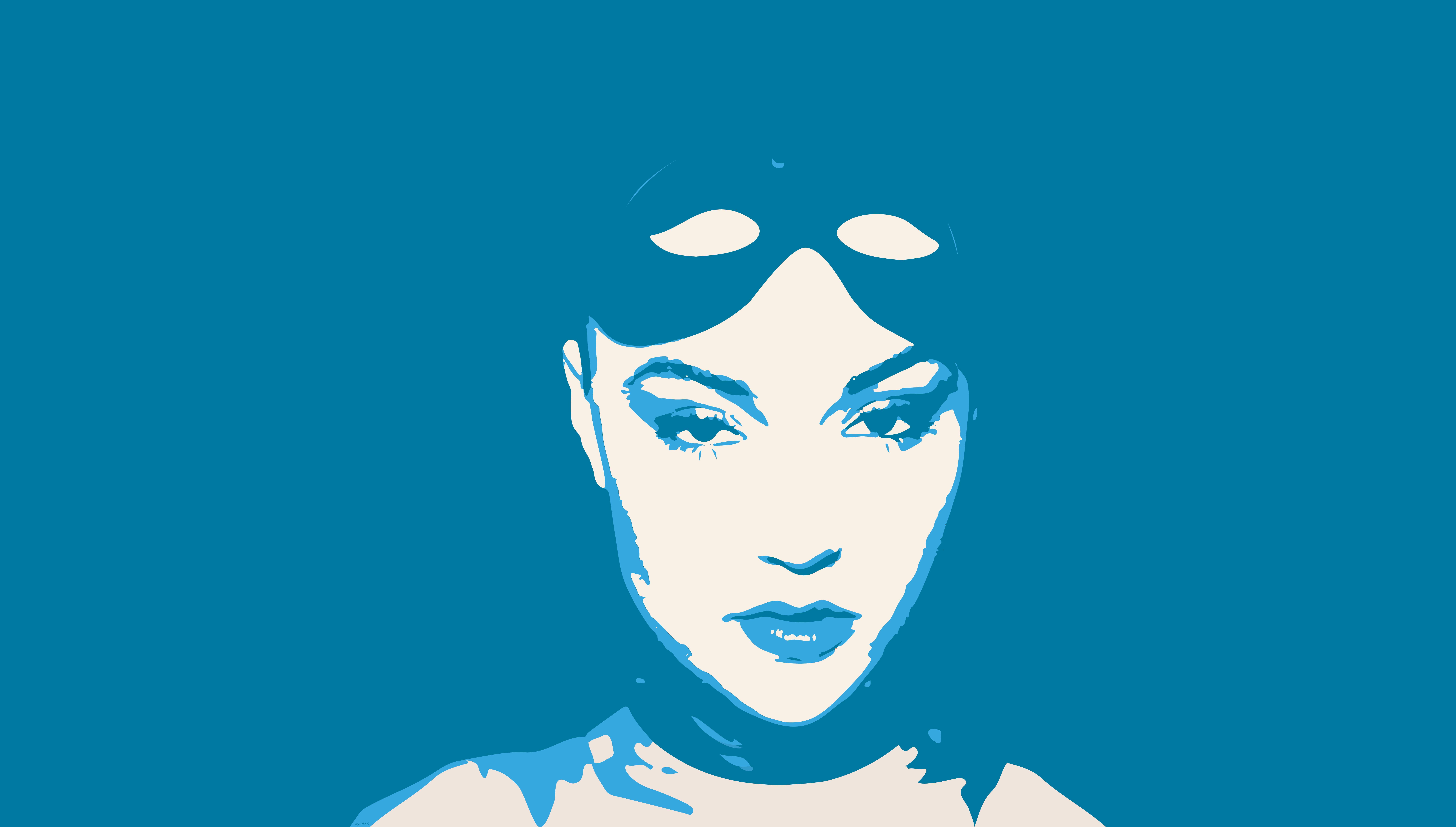 Fondos De Pantalla Cara Ilustración Azul Dibujos