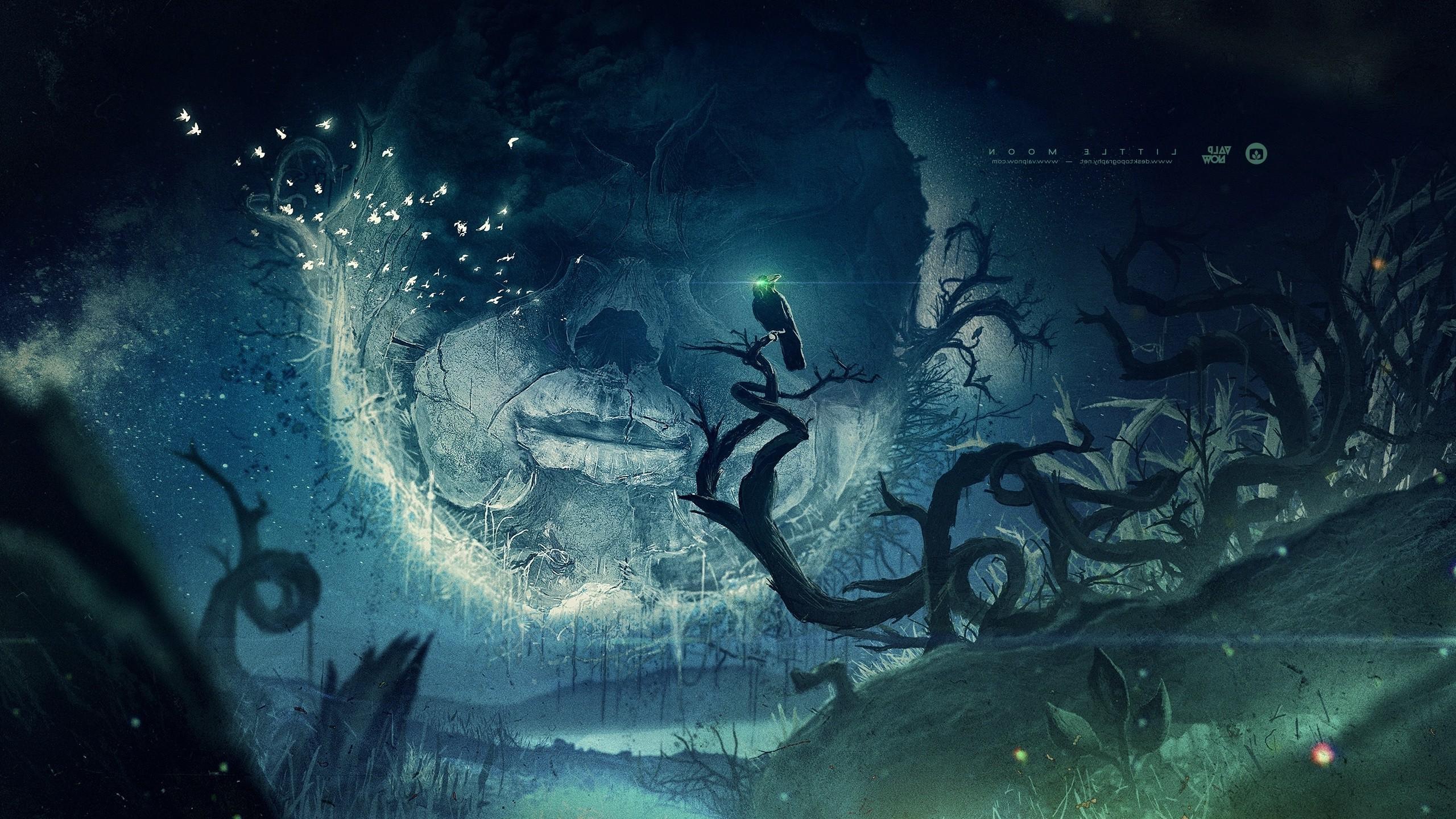 Wallpaper Face Illustration Fantasy Art Moon Mist
