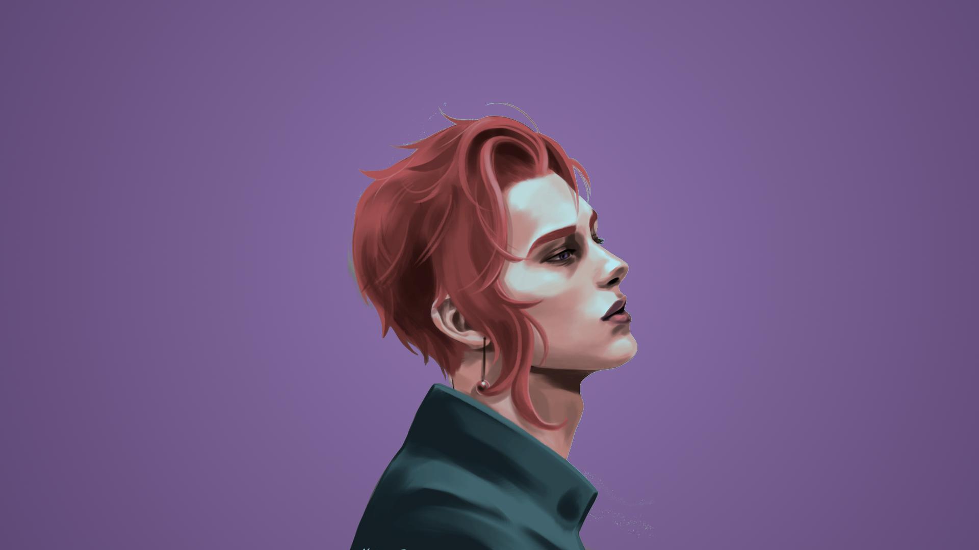 Wallpaper : Face, Illustration, Redhead, Model, Portrait