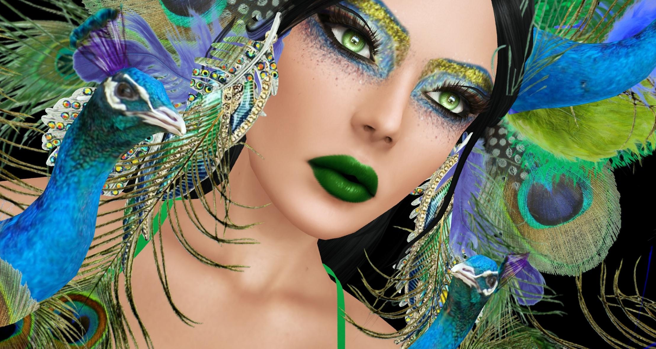viso modello capelli neri 7 Carnevale ARTE bellezza Festival chiodo piuma  avvicinamento ciglio maschera d2dd0820ef35