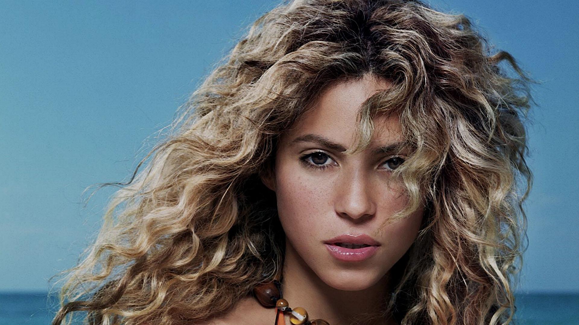 Wallpaper Face Model Long Hair Black Hair Shakira Supermodel