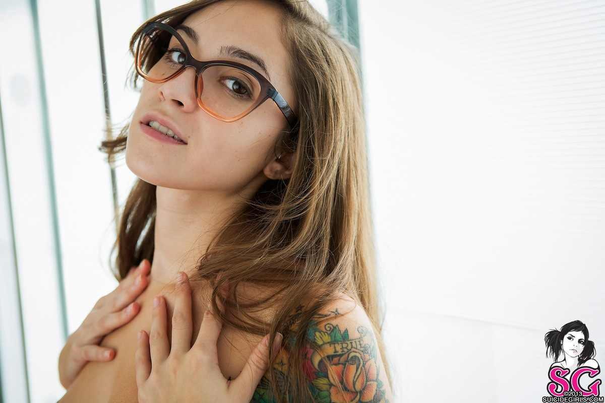 Wallpaper  Face, Model, Long Hair, Women With Glasses -1349