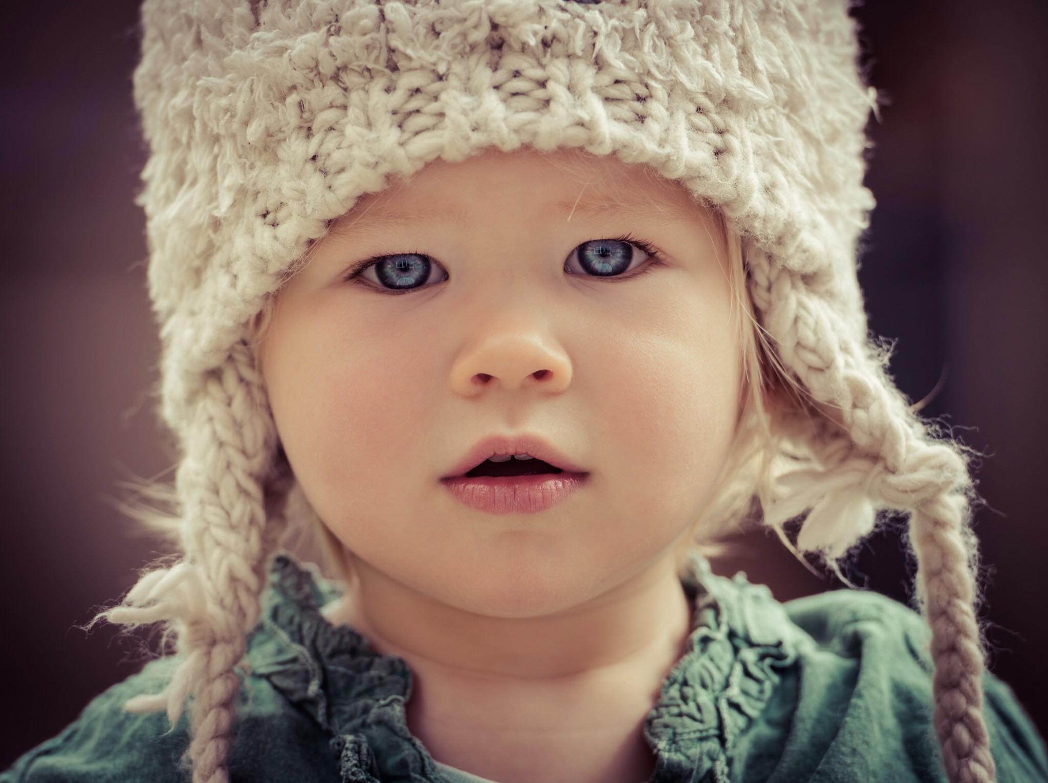 Wallpaper : face, model, blue eyes, children, baby, Person ...