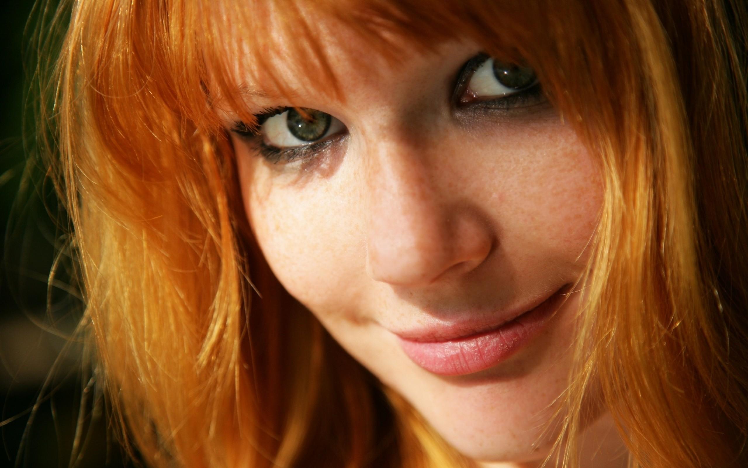 Auburn Hair Green Eyes Glasses