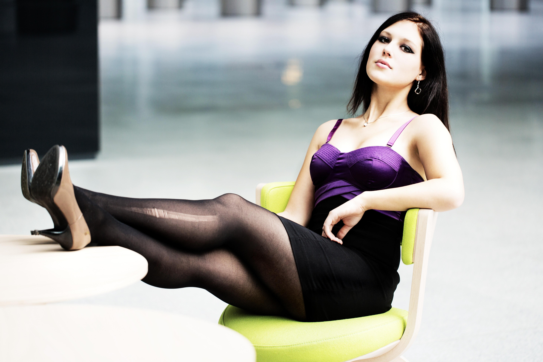 Wallpaper : model, blonde, long hair, legs, sitting