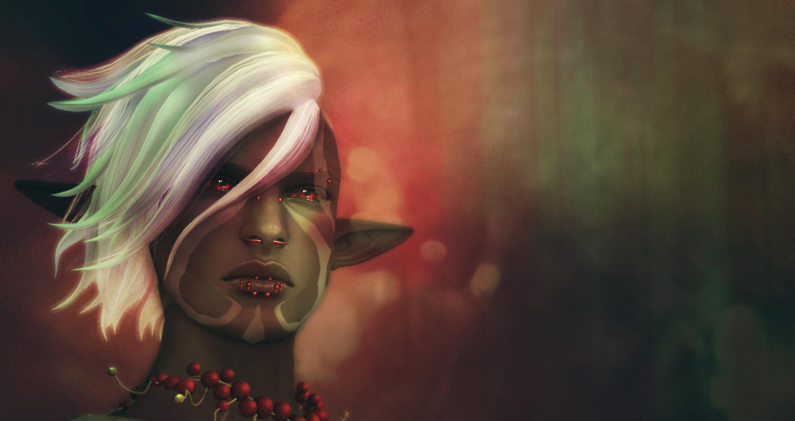 Wallpaper Face Mouth Elves Mythology Head Mandala Art Girl
