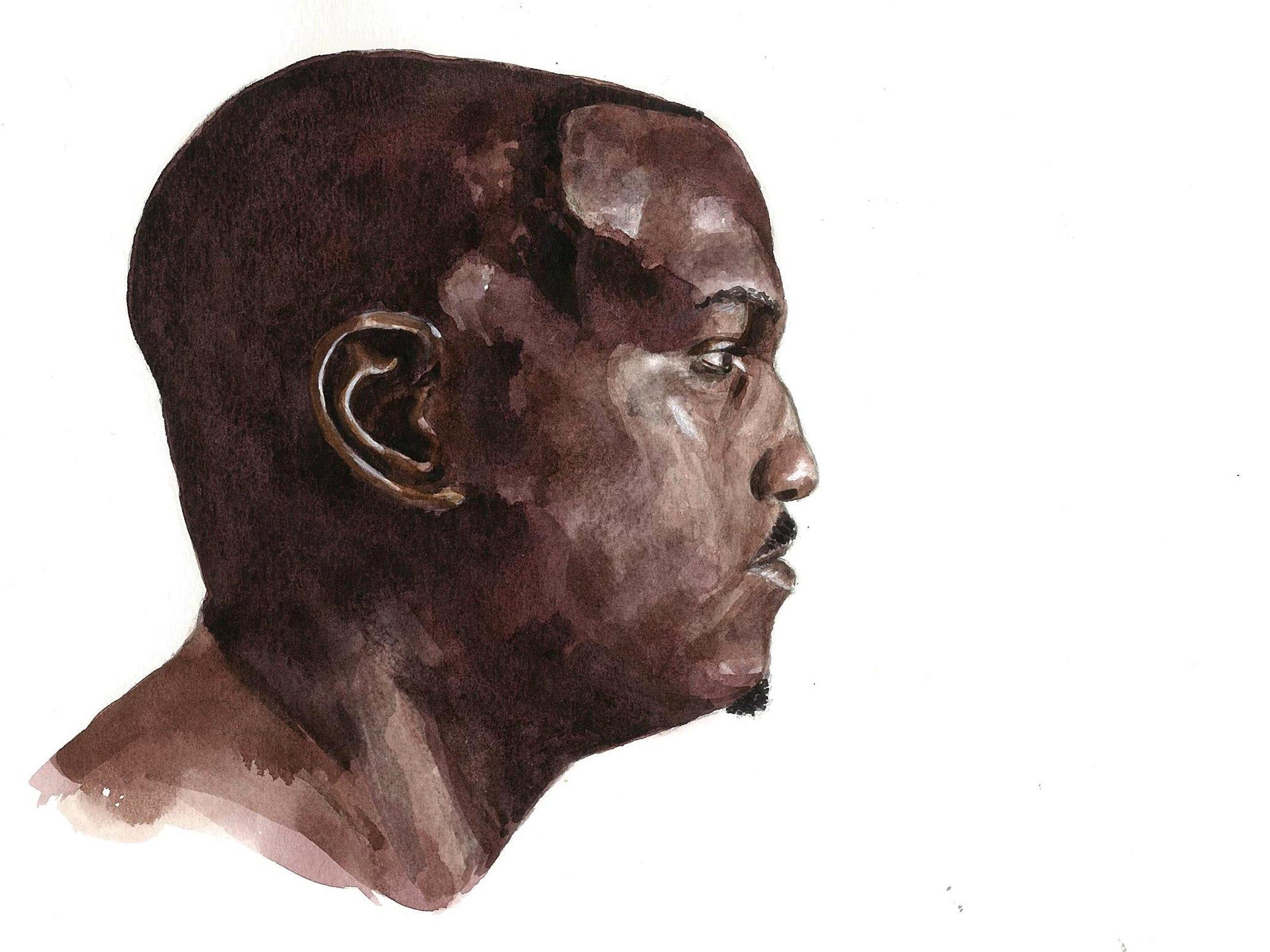 Masaustu Yuz Boyama Portre Profil Burun Suluboya Kafa