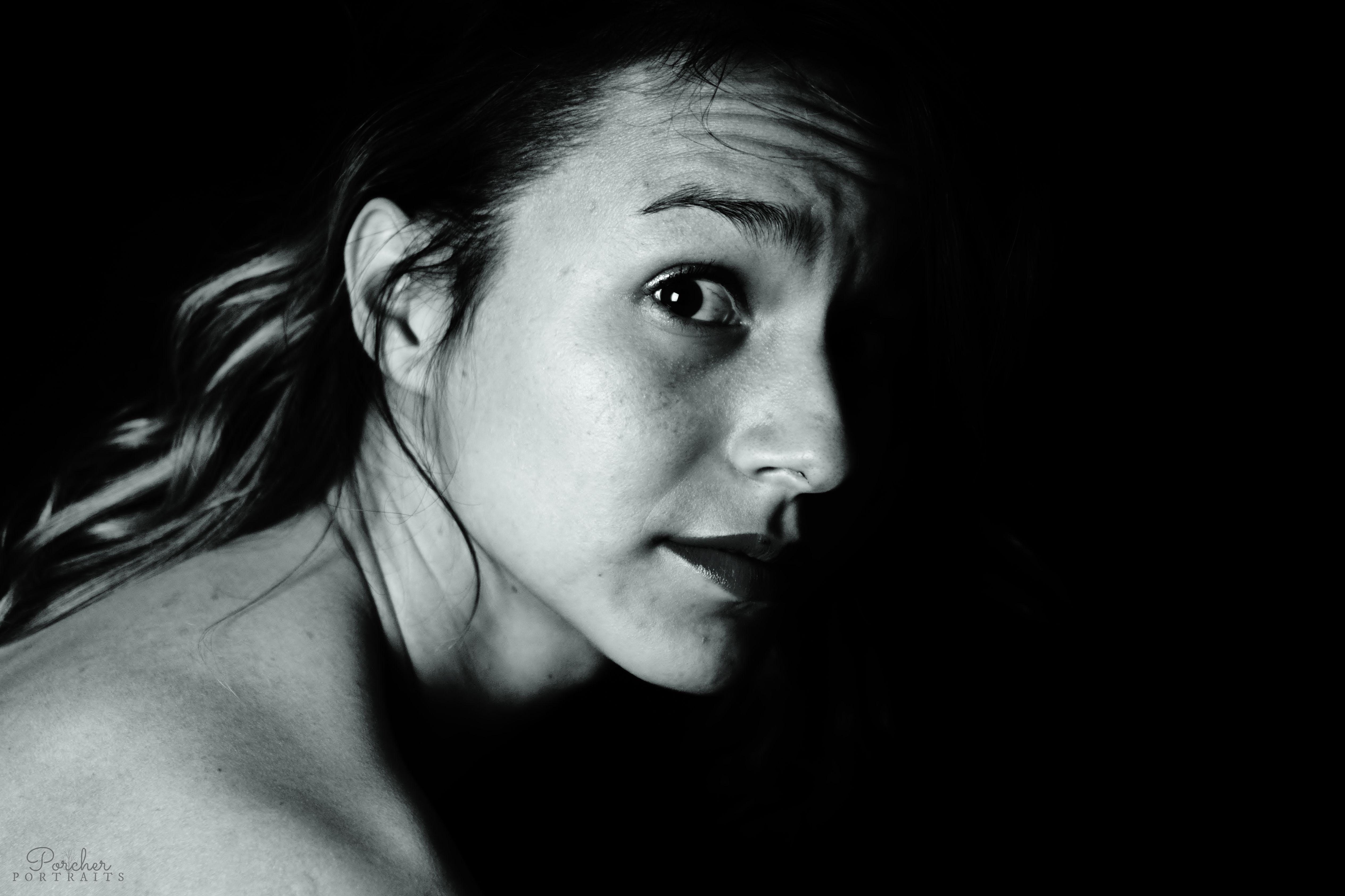 xx mørke smuk kvinde