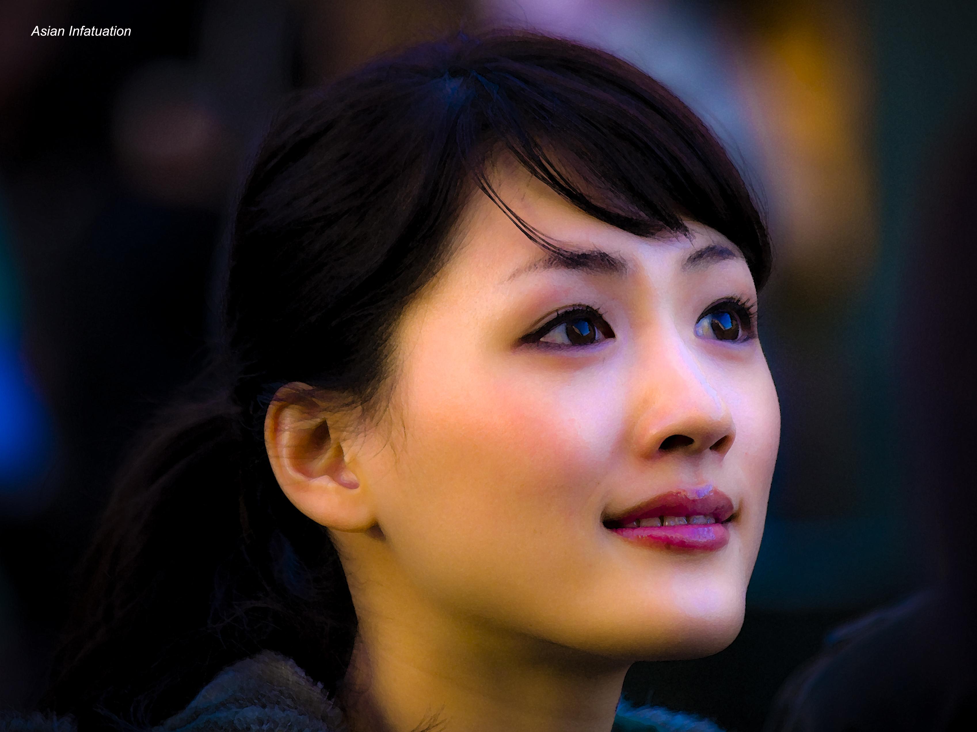 Masaüstü Yüz Portre Gözler Sokak Asya Profil Siyah Saç At