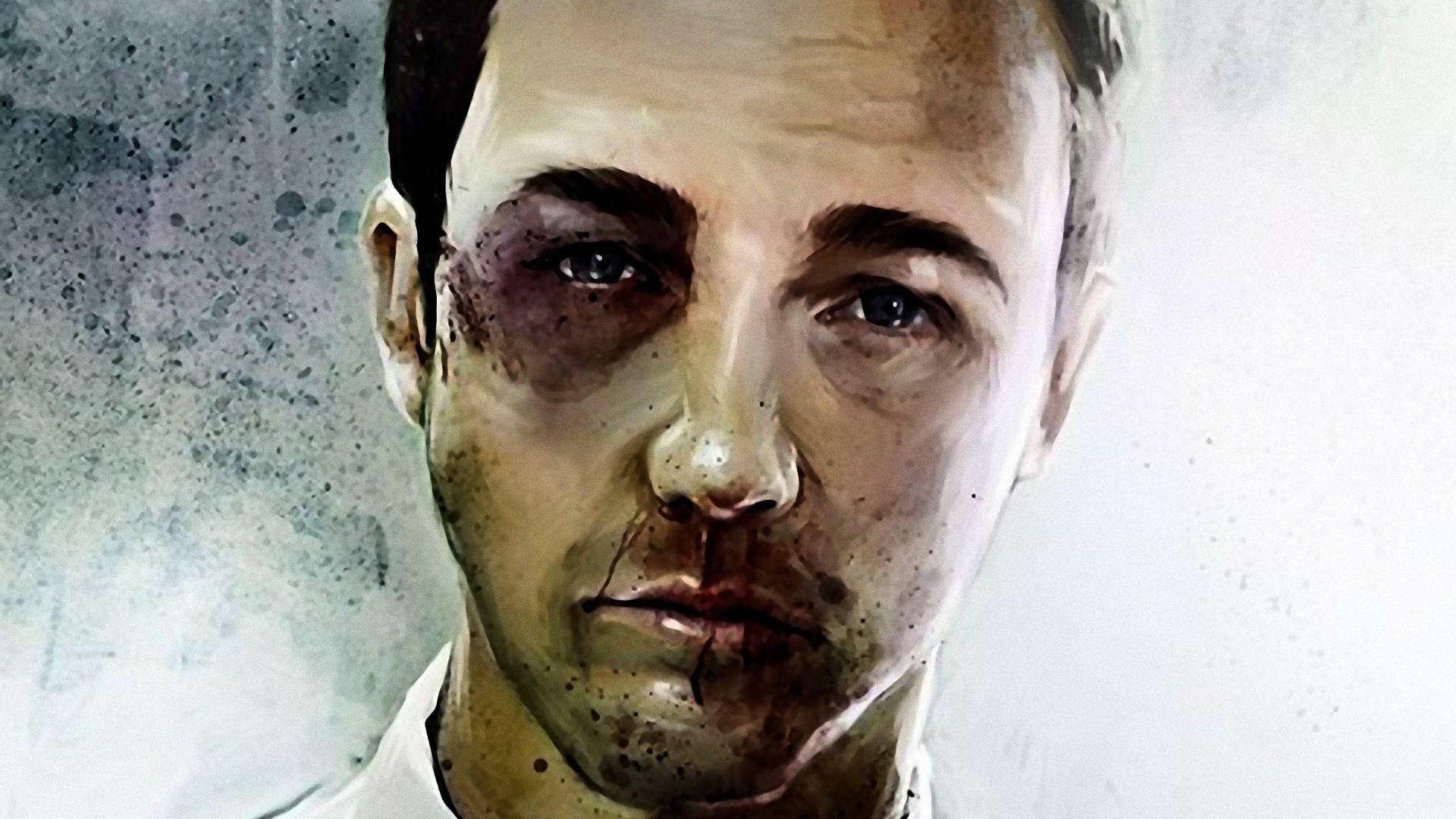 Wallpaper : face, portrait, movies, Fight Club, Edward ...