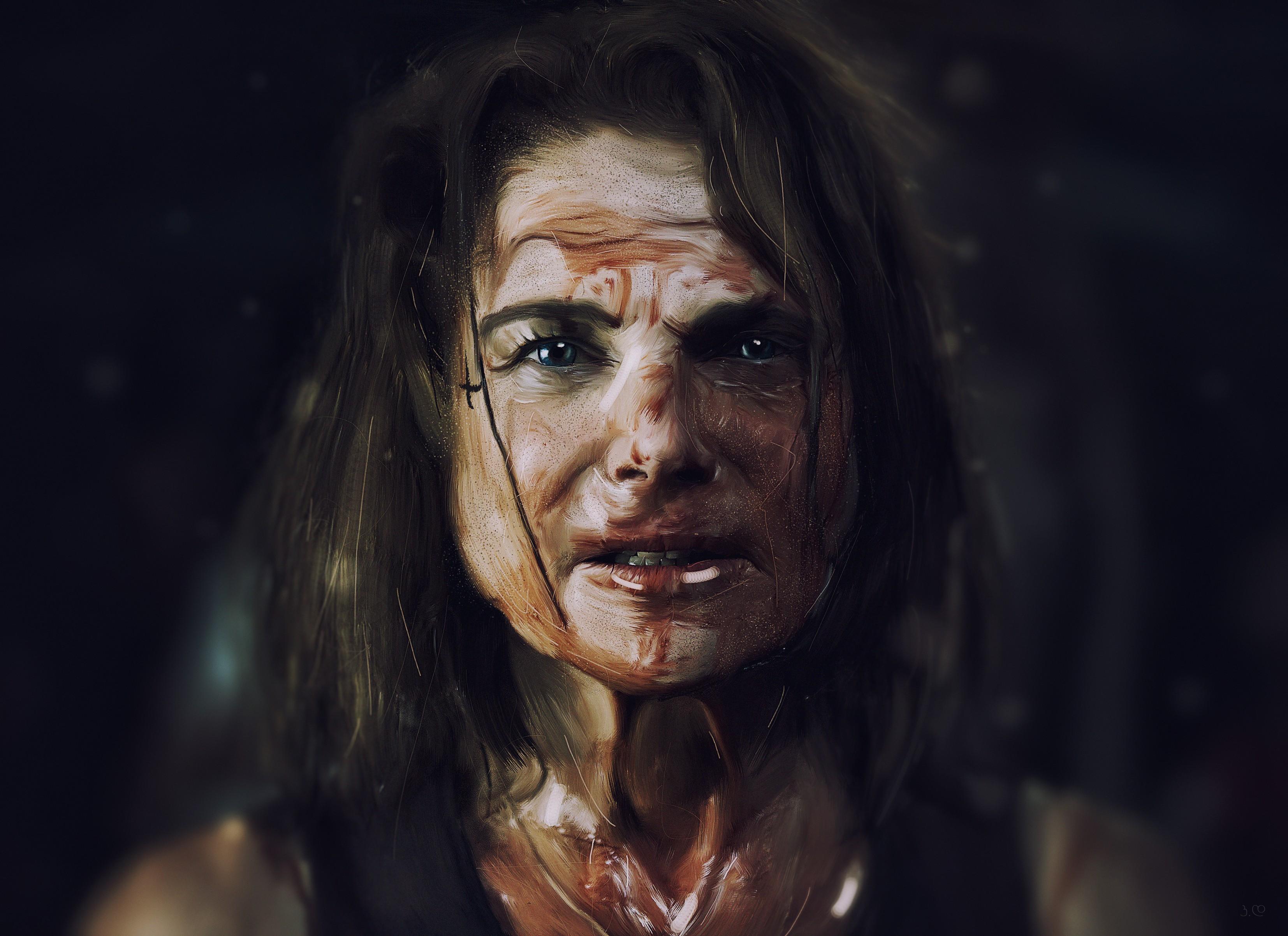 Wallpaper Face Portrait Photography Blood The Walking Dead