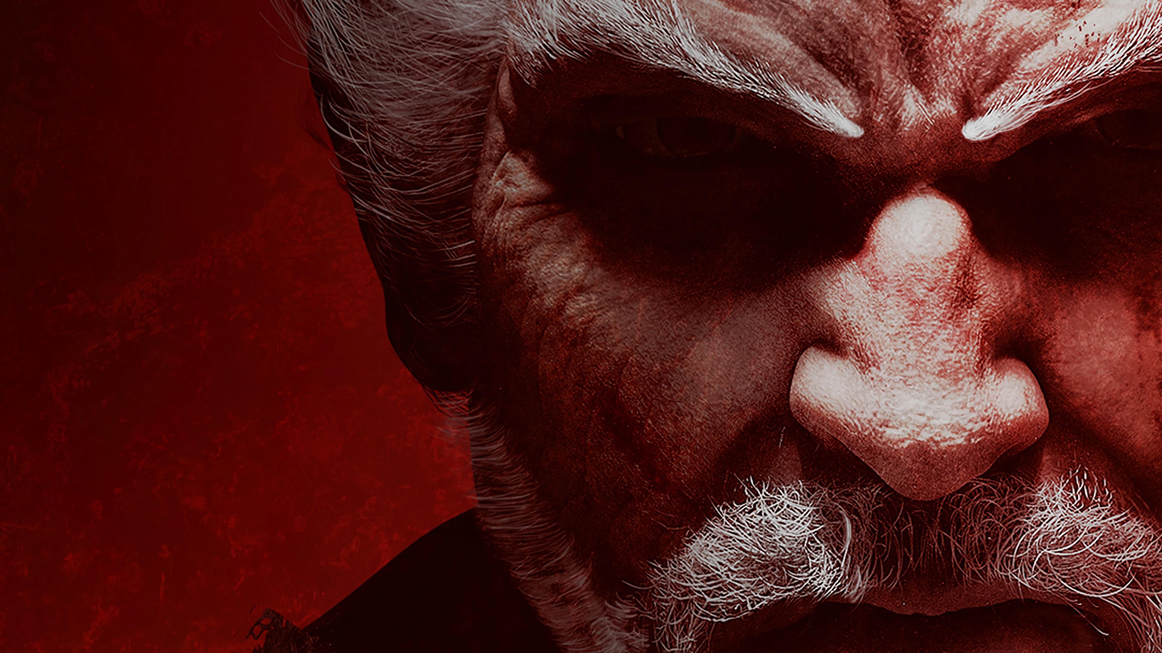 Fond D Ecran Visage Portrait Rouge Tekken 7 Bouche Nez