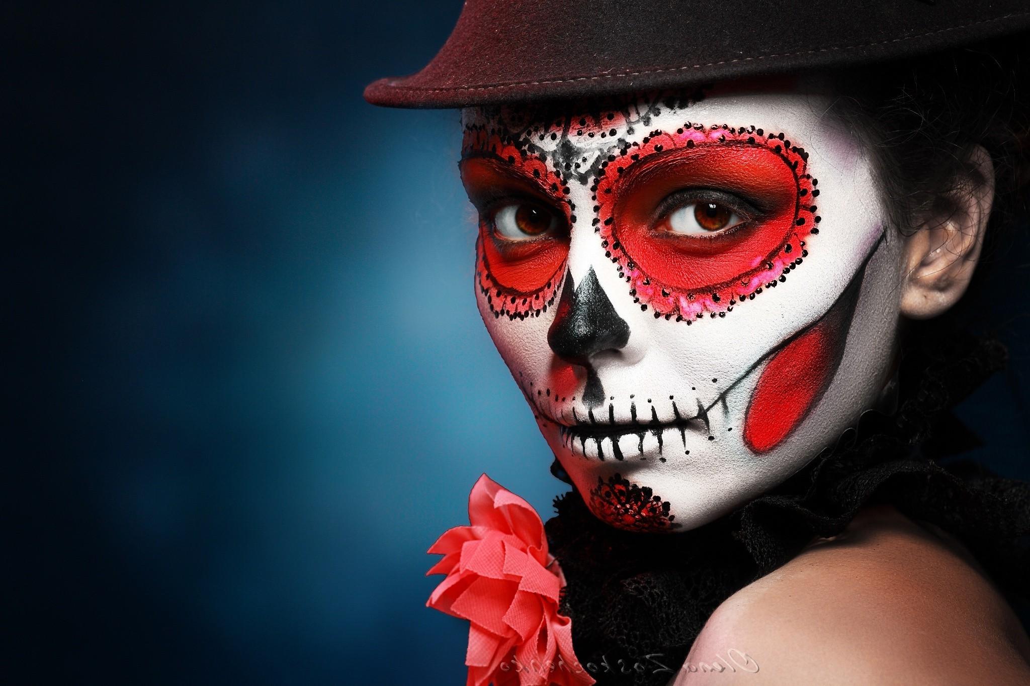 Fantastic Wallpaper Halloween Skull - face-red-hat-makeup-Halloween-mask-Sugar-Skull-clothing-head-entertainment-color-darkness-headgear-costume-2048x1365-px-masque-performing-arts-641458  Photograph_778168.jpg