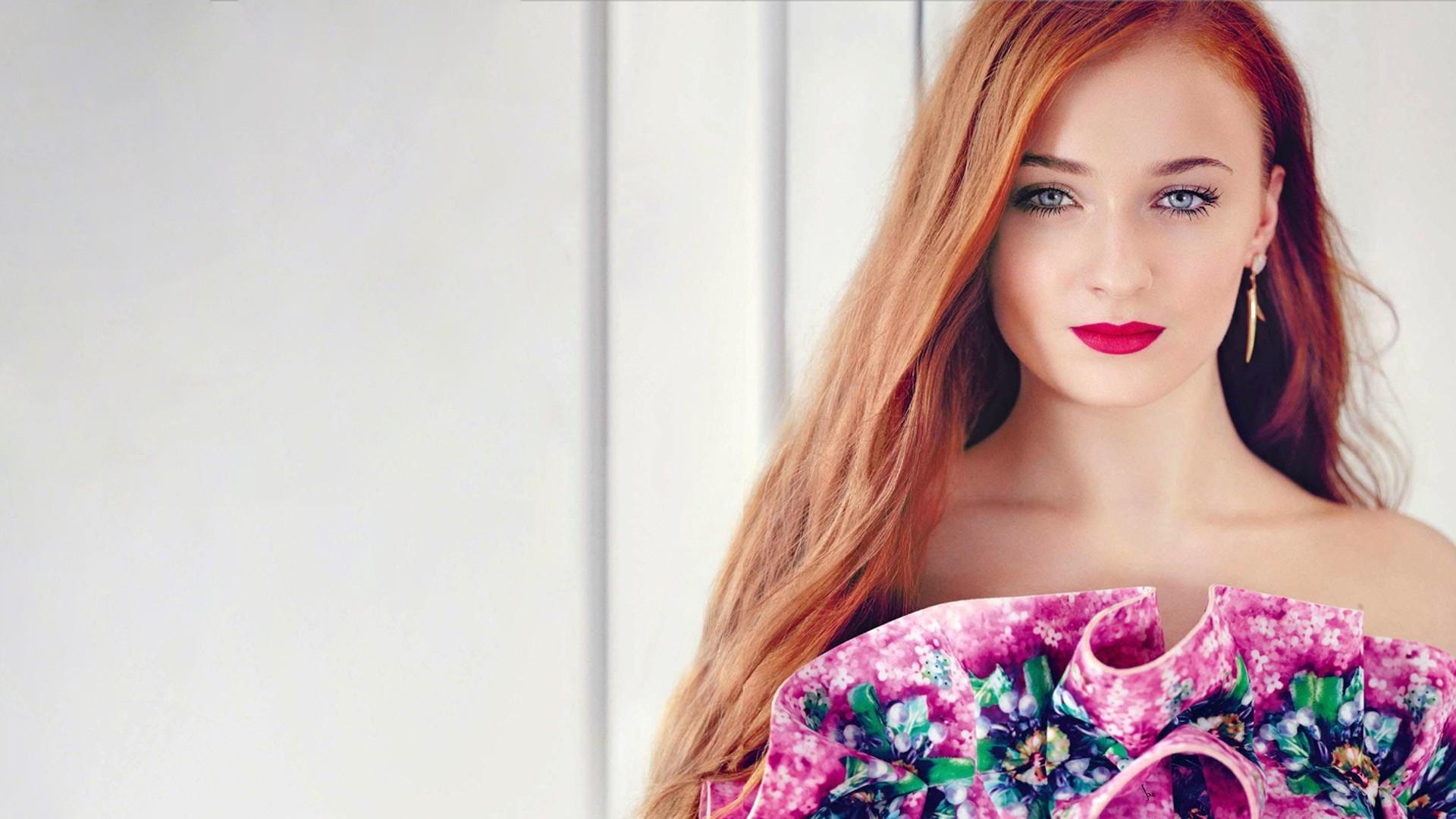 Red Lipstick Brown Hair Blue Eyes: Tapety : Tvář, Ryšavý, Model, Dlouhé Vlasy, Modré Oči