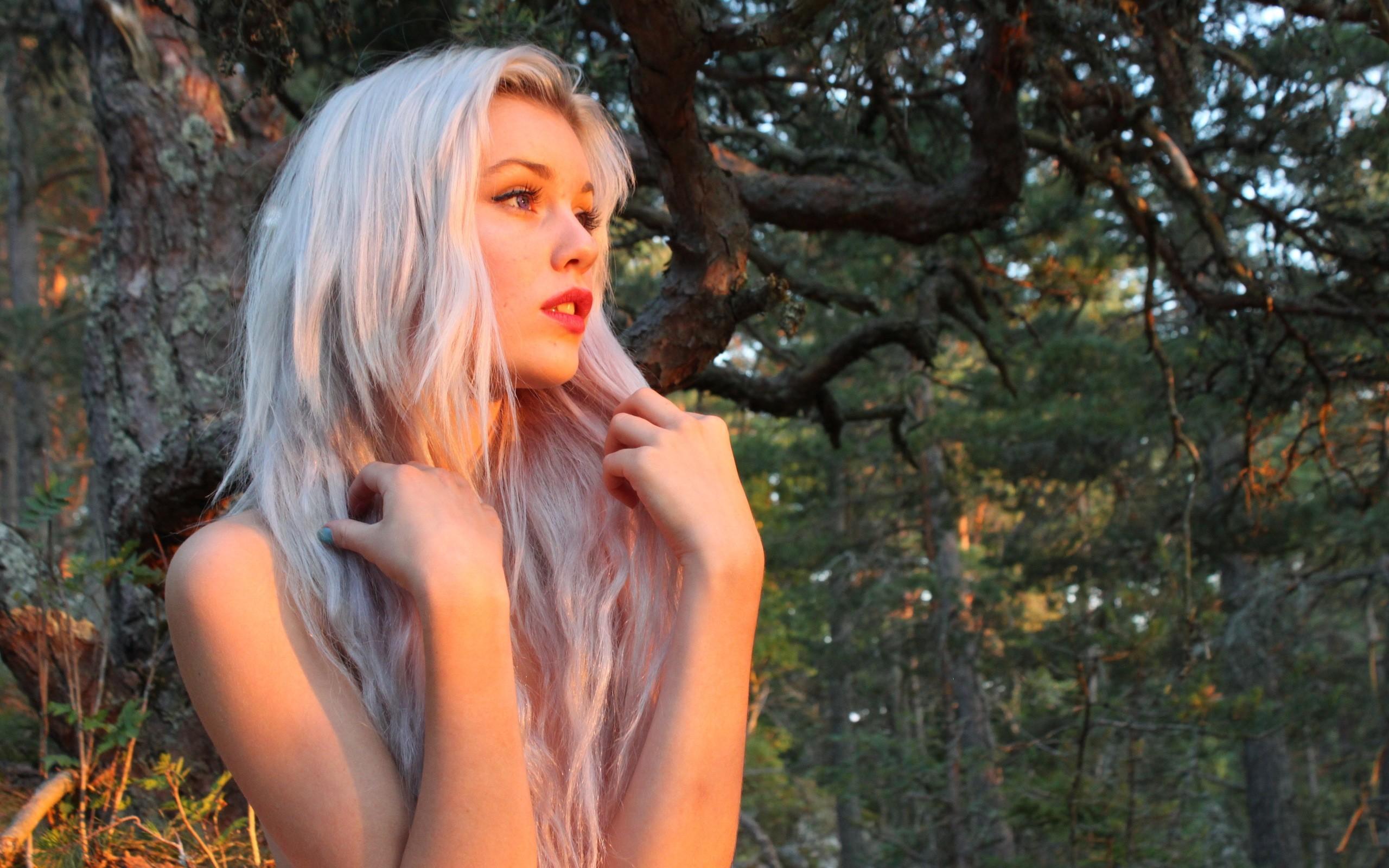 Wallpaper : face, sunlight, forest, women outdoors, model