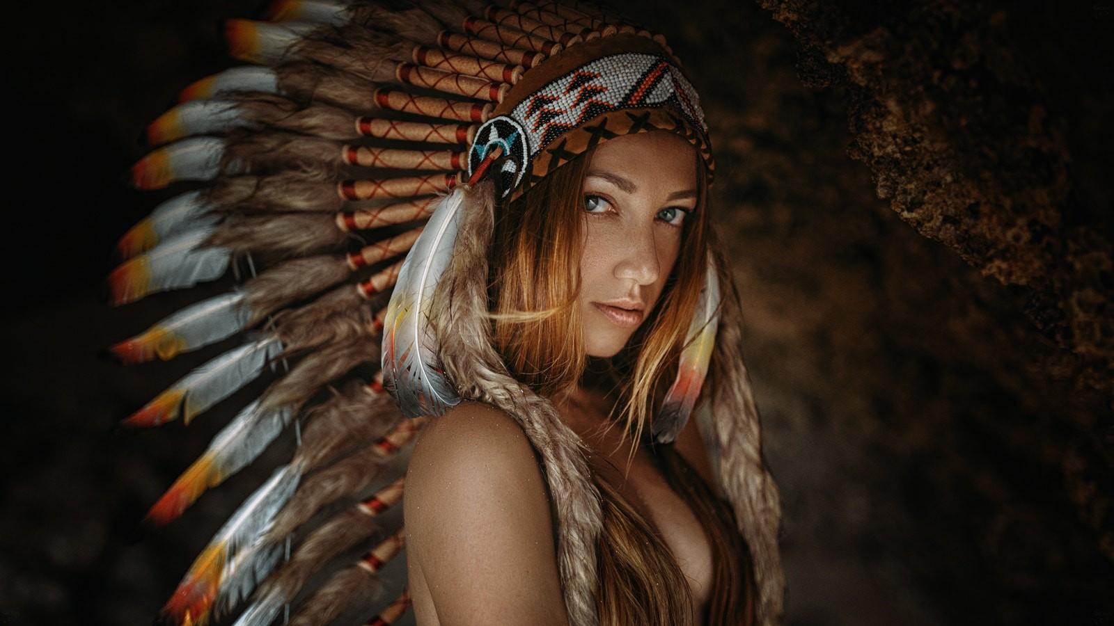 Fond d 39 cran visage temple femmes roux 500px maquette portrait cheveux longs regarder - Indian beautiful models hd wallpapers ...