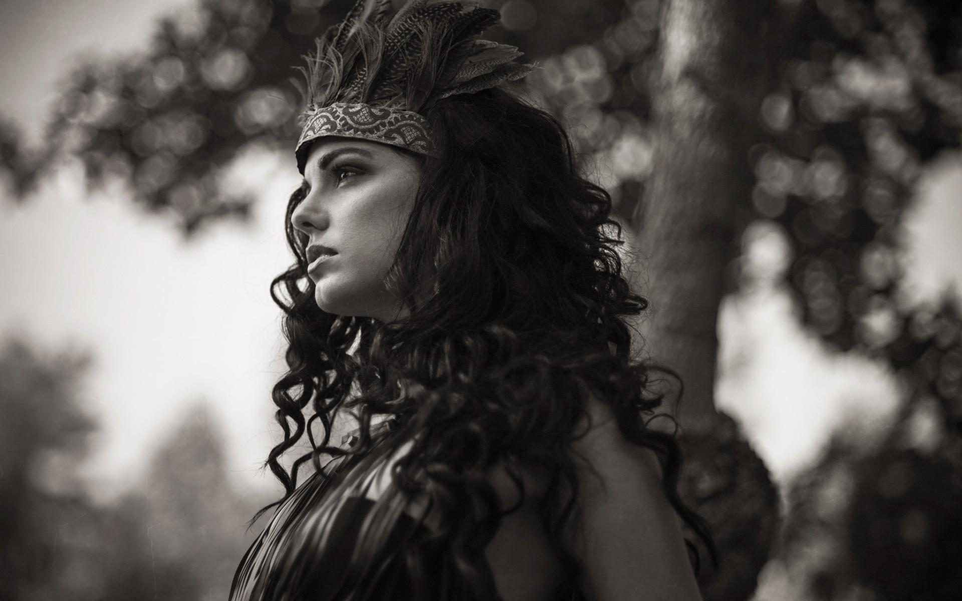 Remarkable, very long hair native american women speaking, would