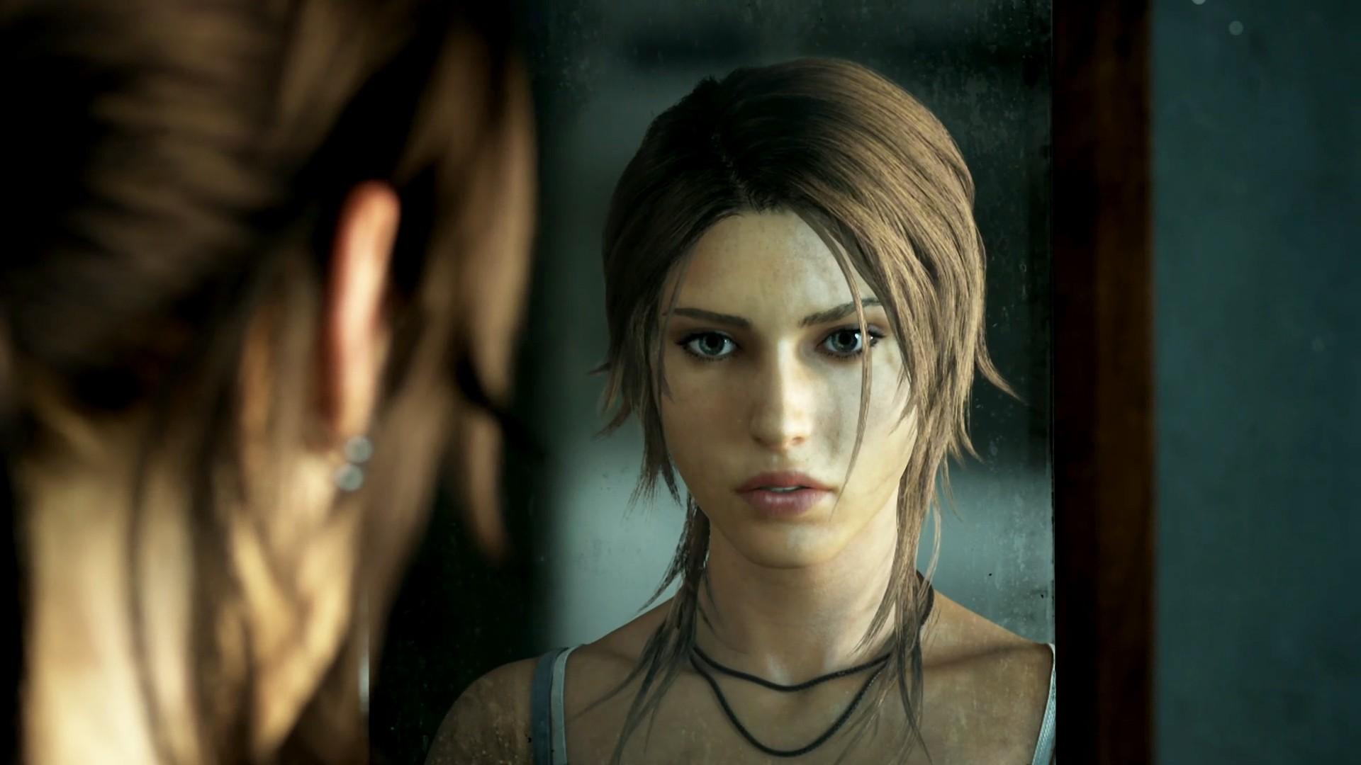 Wallpaper Face Video Games Model Fashion Hair Lara Croft