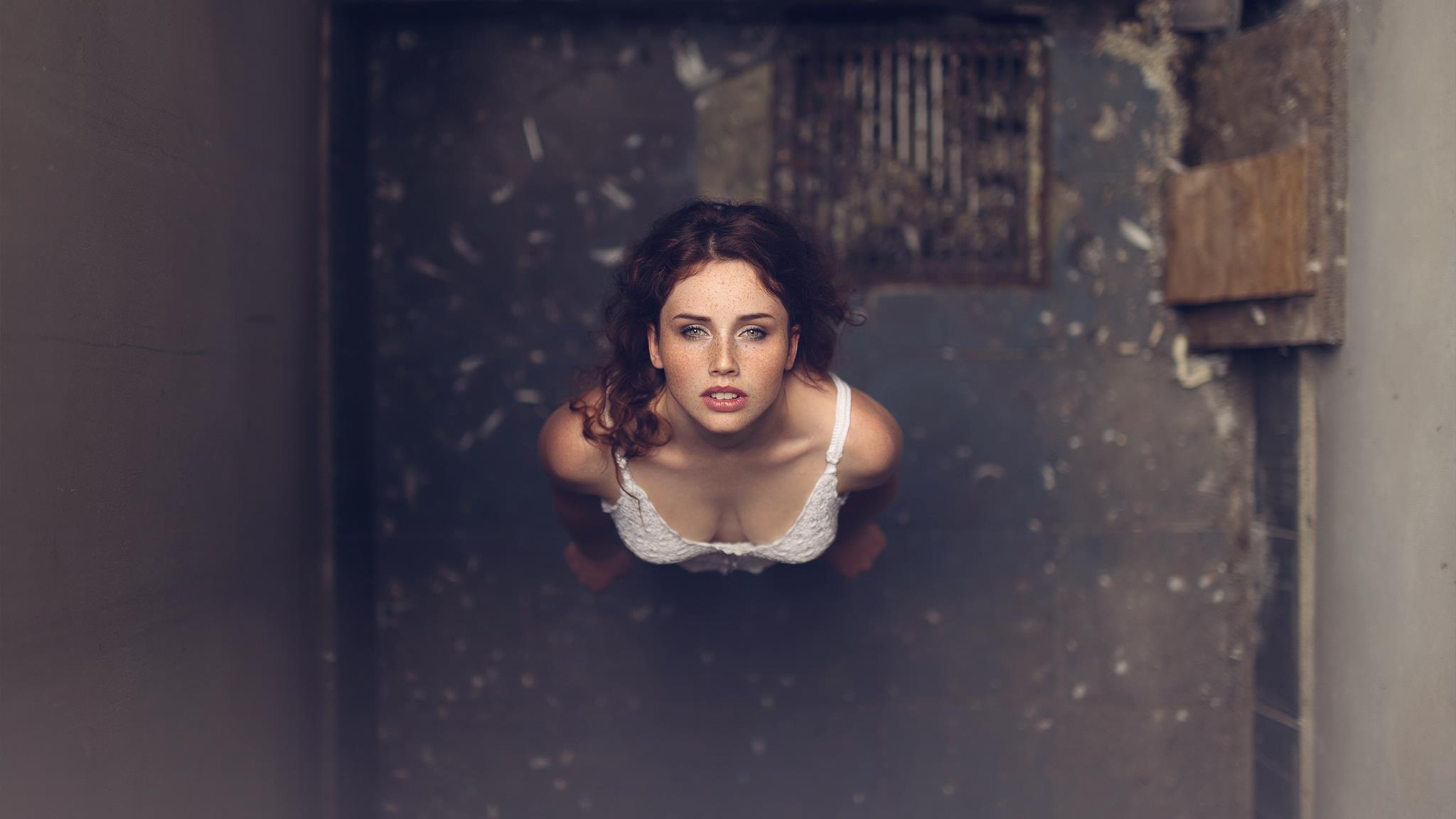 Wallpaper  Face, White, Black, Women, Model, Blue -4114