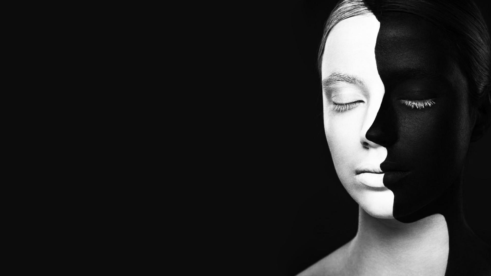 Wallpaper Face Women Model Black Background Looking: Wallpaper : Face, Women, Model, Black Background, Closed
