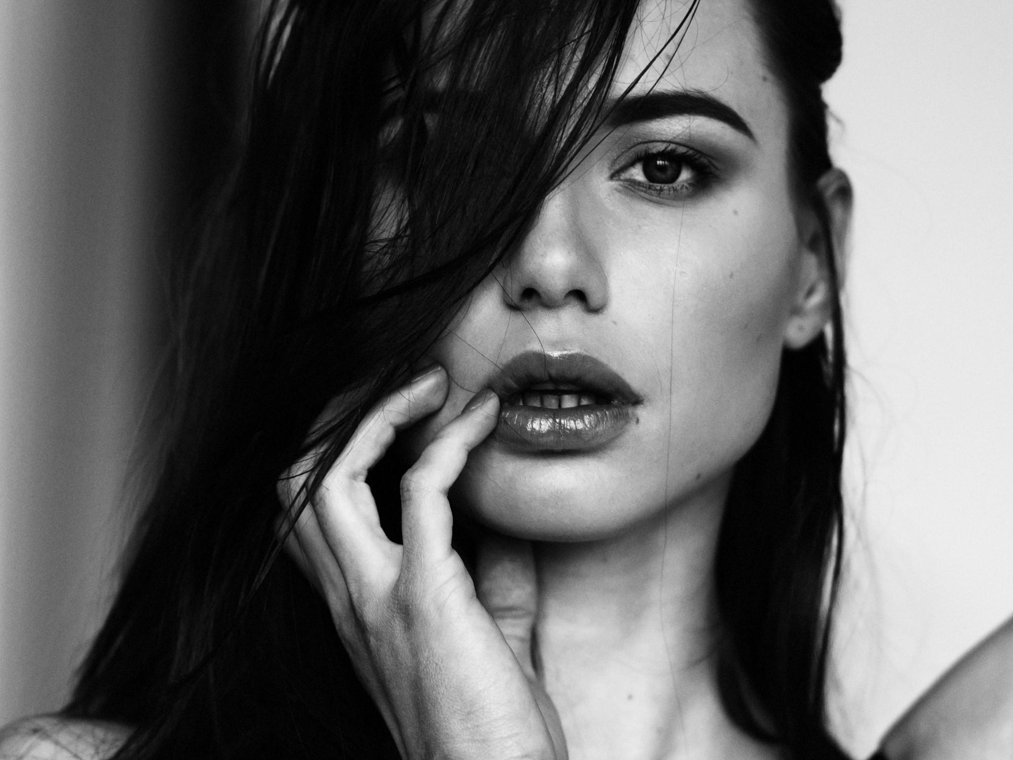 wallpaper face women model long hair brunette mouth emotion person skin head girl. Black Bedroom Furniture Sets. Home Design Ideas