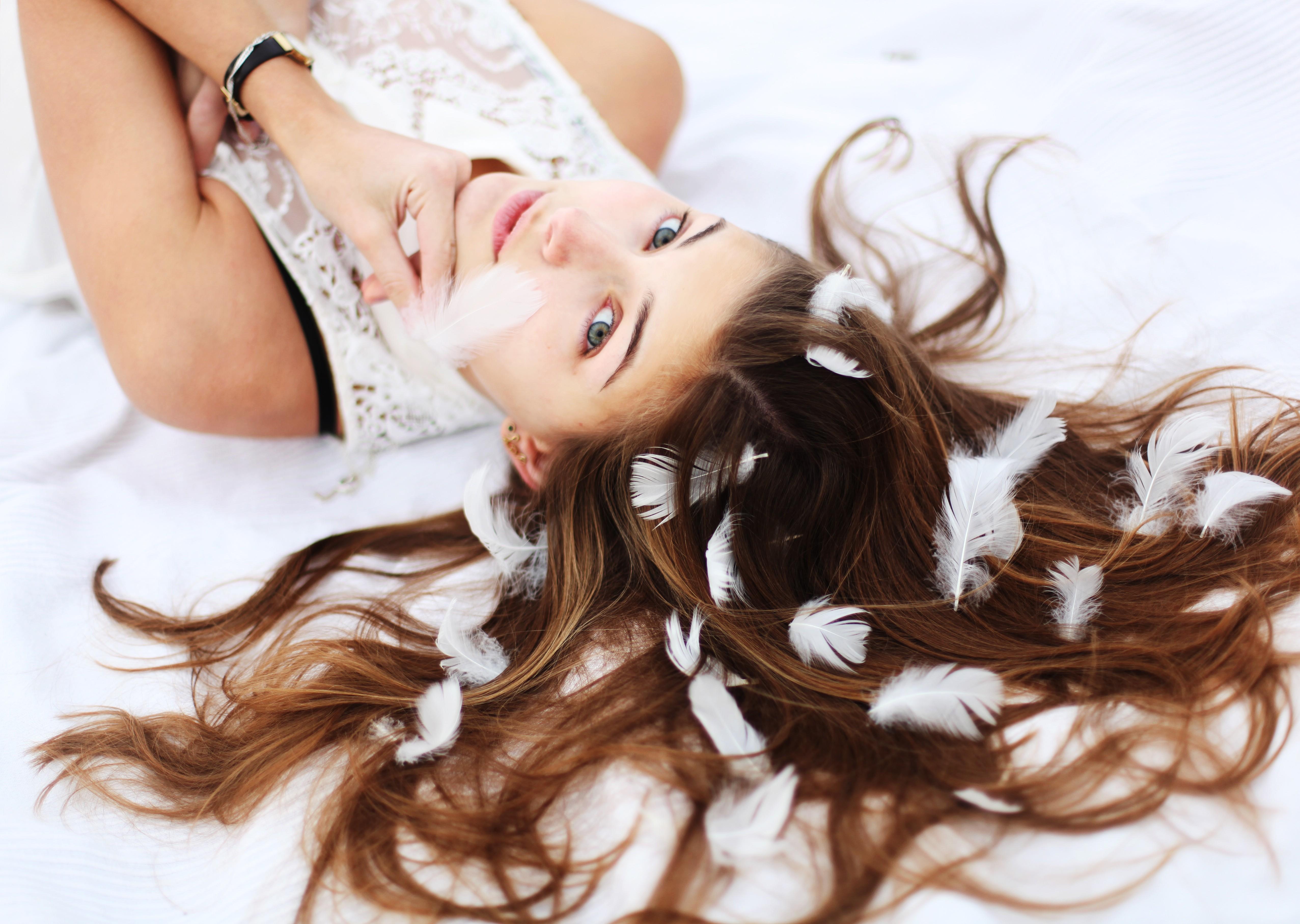 удивительно, идея фотосессии с длинными волосами участок перед