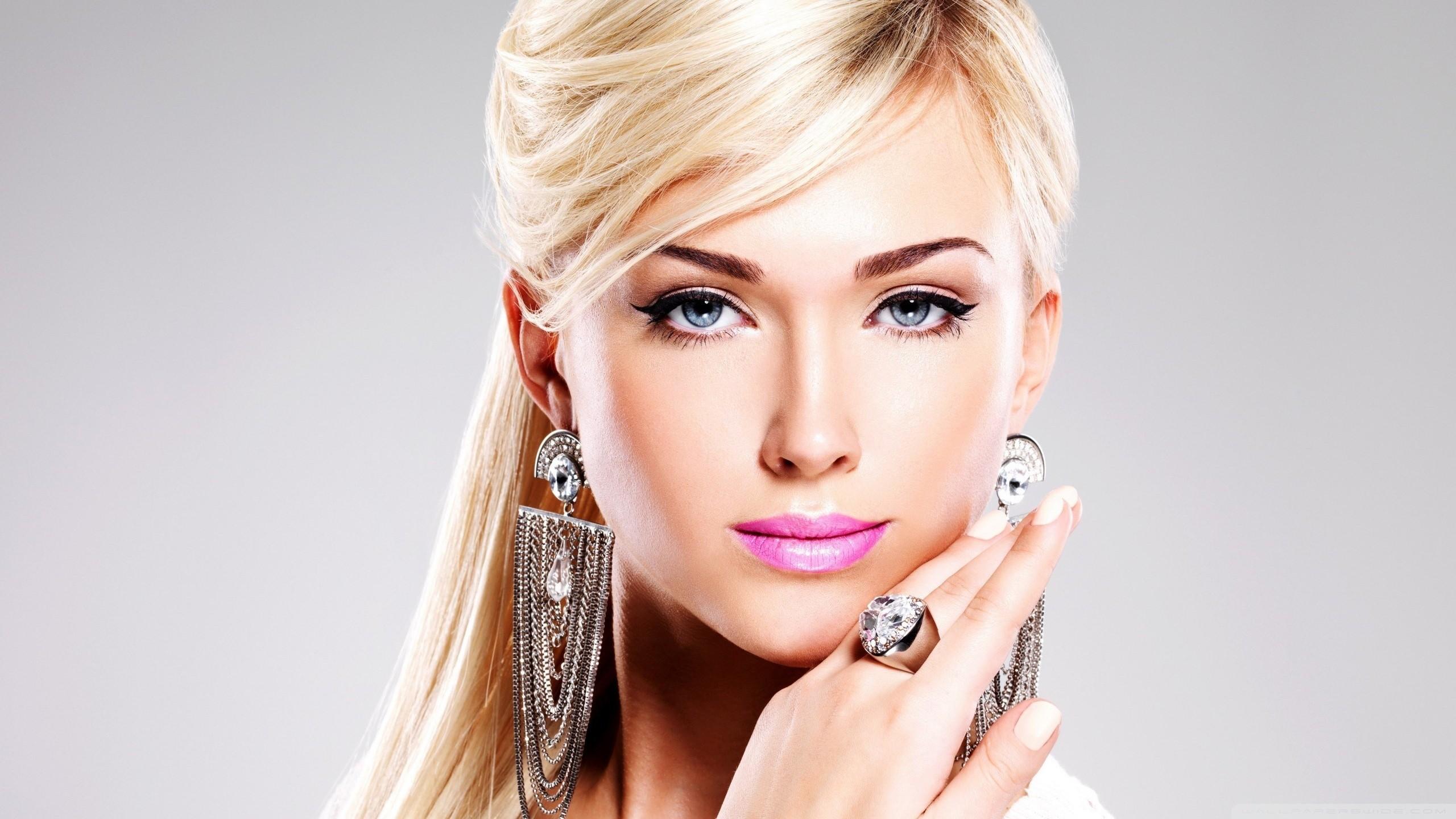 Red Lipstick Brown Hair Blue Eyes: Fondos De Pantalla : Cara, Mujer, Modelo, Rubia, Pelo