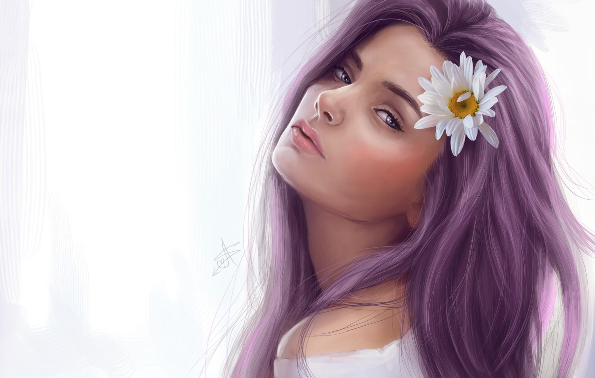 Красивые картинки с нарисованными девочками на обои